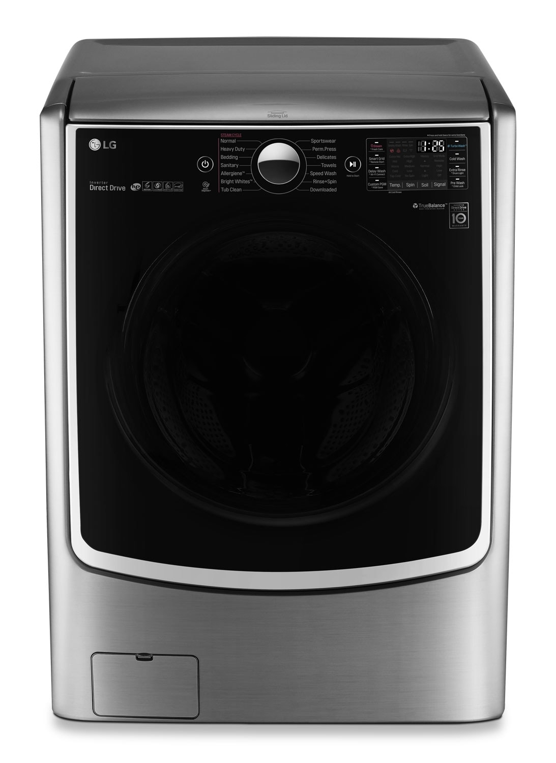 Lg 5 2 Cu Ft Front Load Steam Washer And 7 4 Cu Ft