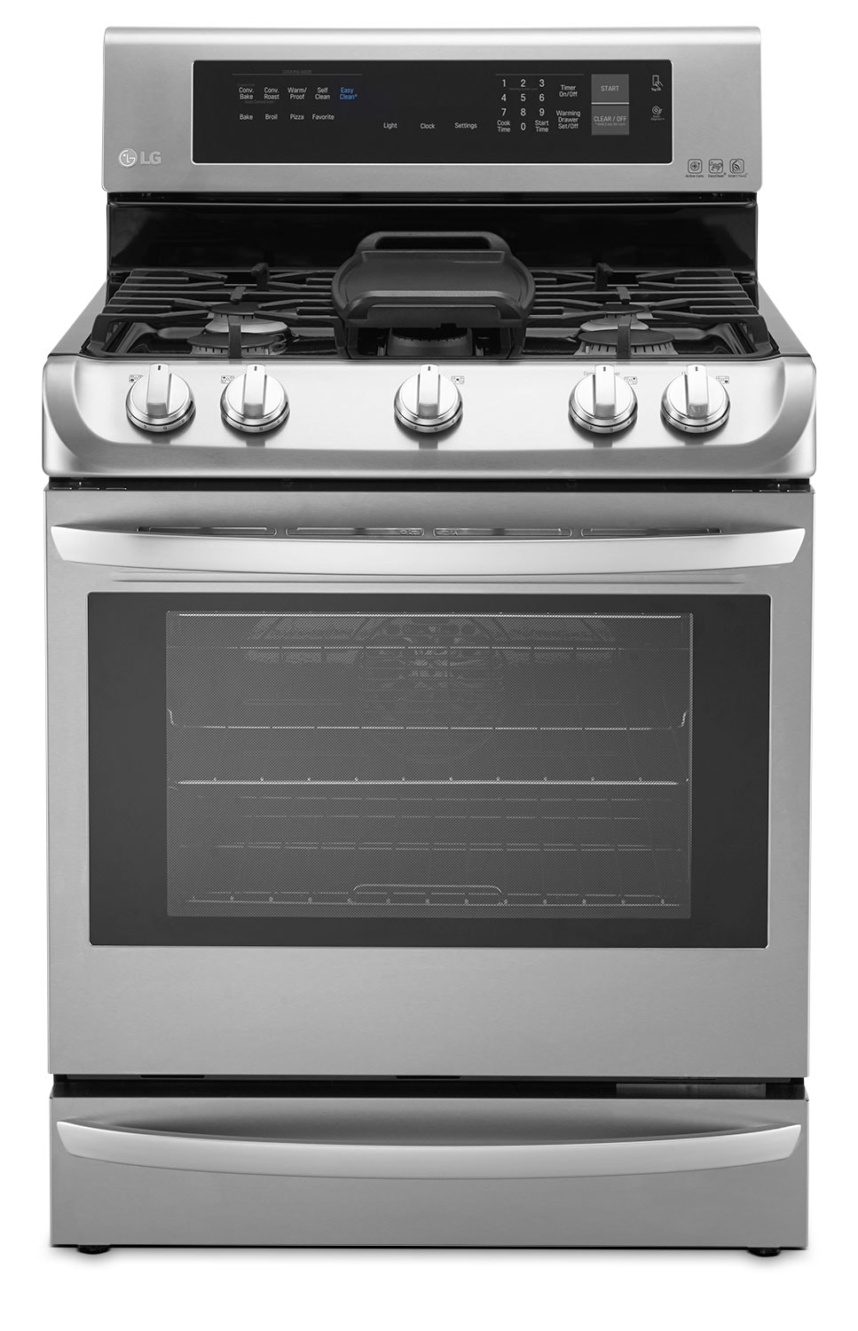 LG 6.3 Cu. Ft. Freestanding Gas Convection Range – Stainless Steel
