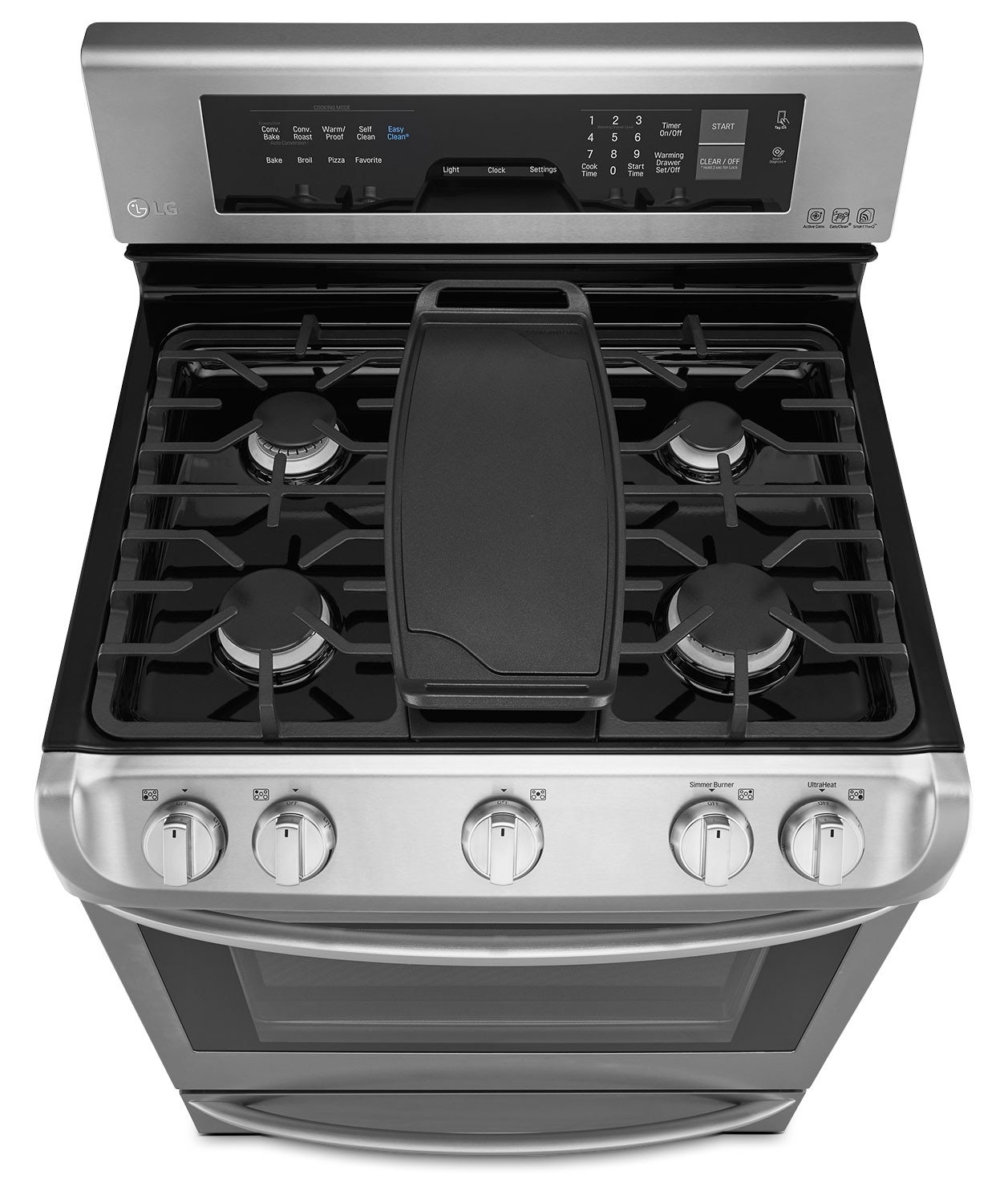 Gas Stainless Steel Cooktop Lg 63 Cu Ft Freestanding Gas Convection Range Stainless Steel