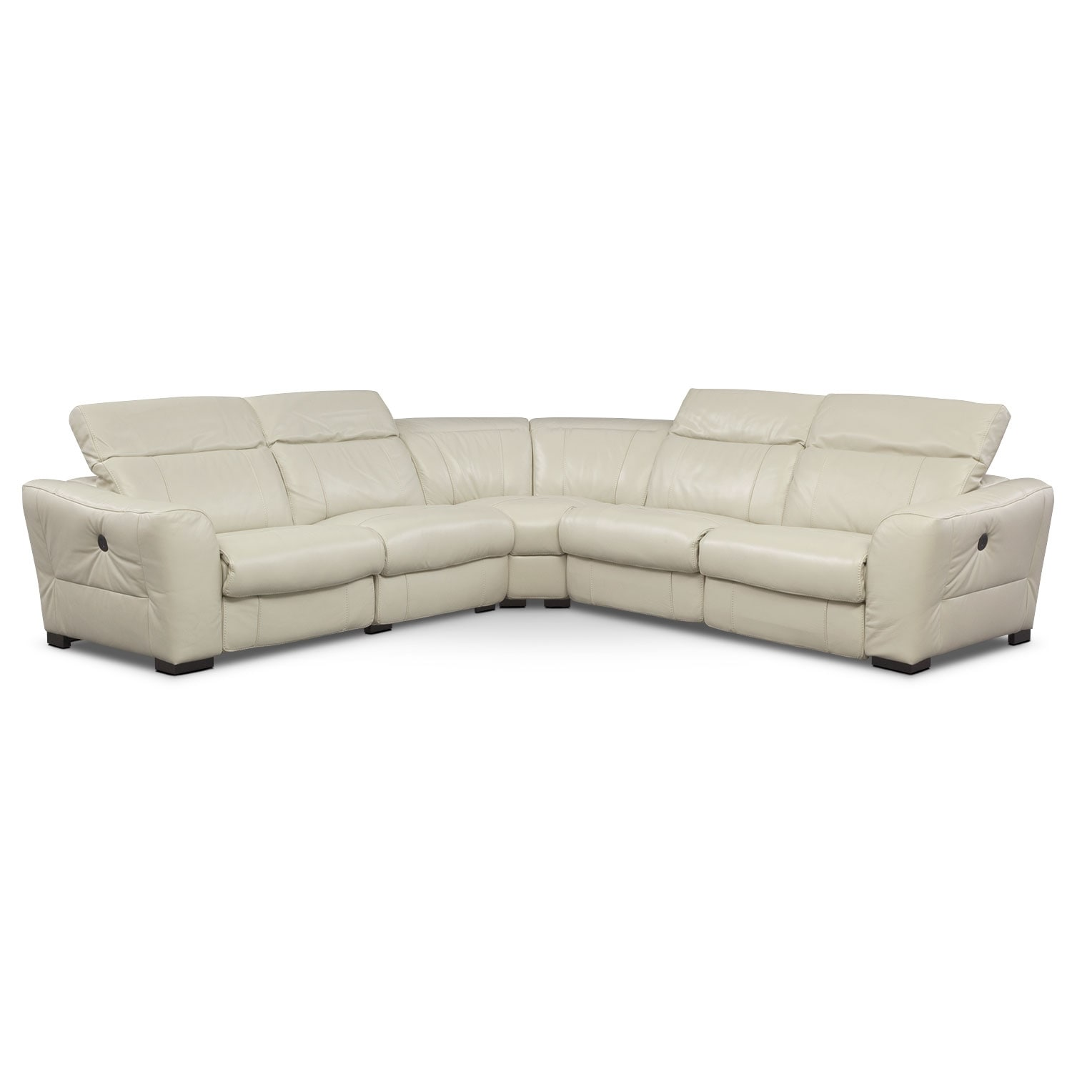 [Palisade Ivory 5 Pc. Sectional w/ 2 Power Reclining Seats]
