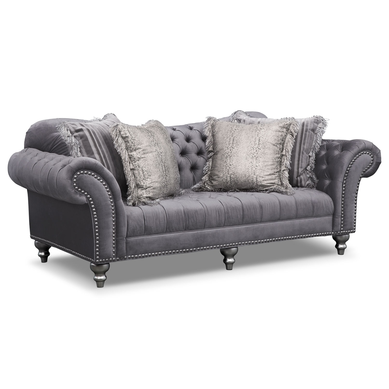 Brittney Sofa Gray Value City Furniture