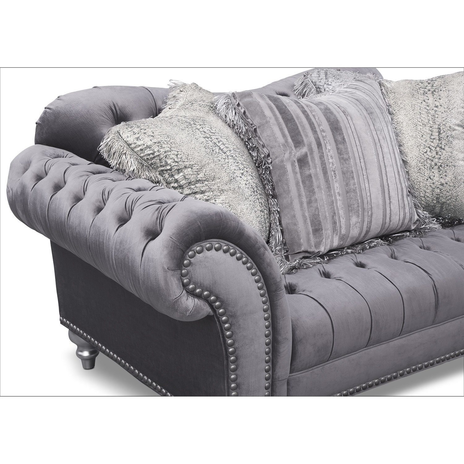 Brittney Loveseat Gray American Signature Furniture