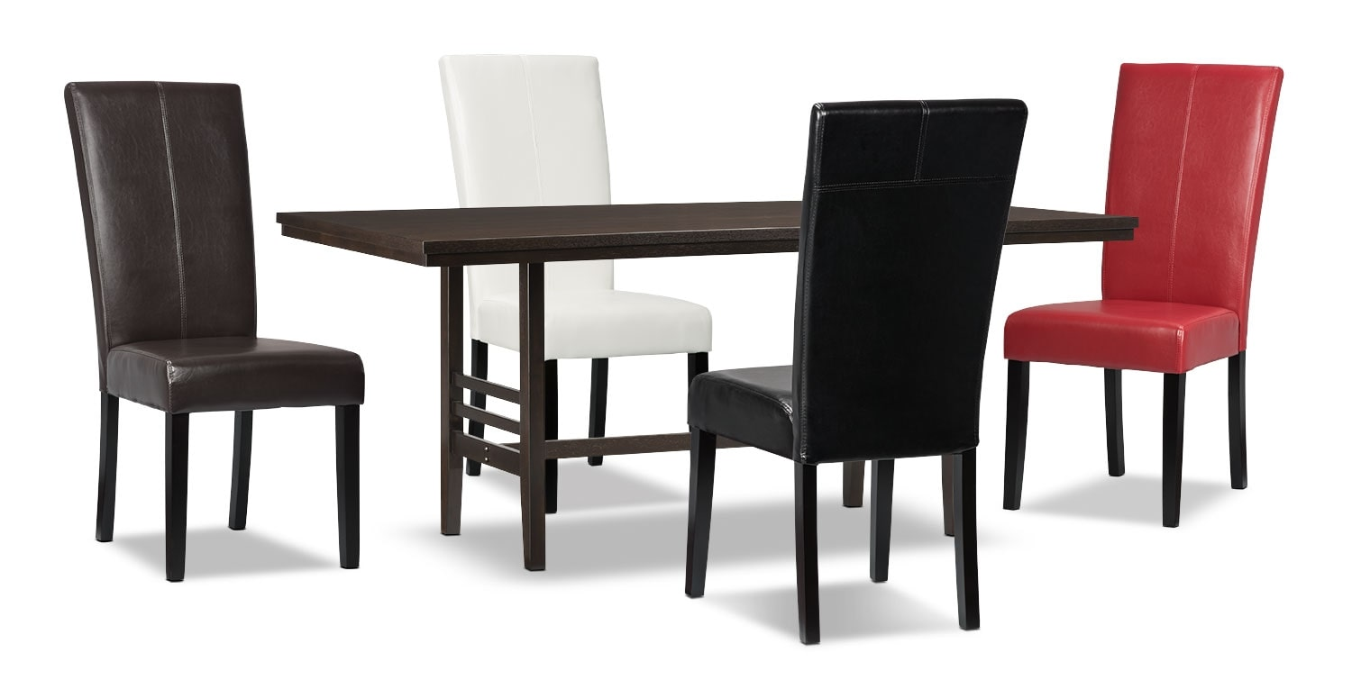 Dining Room Furniture - Metro 5-Piece Dining Package - Assorted Colours