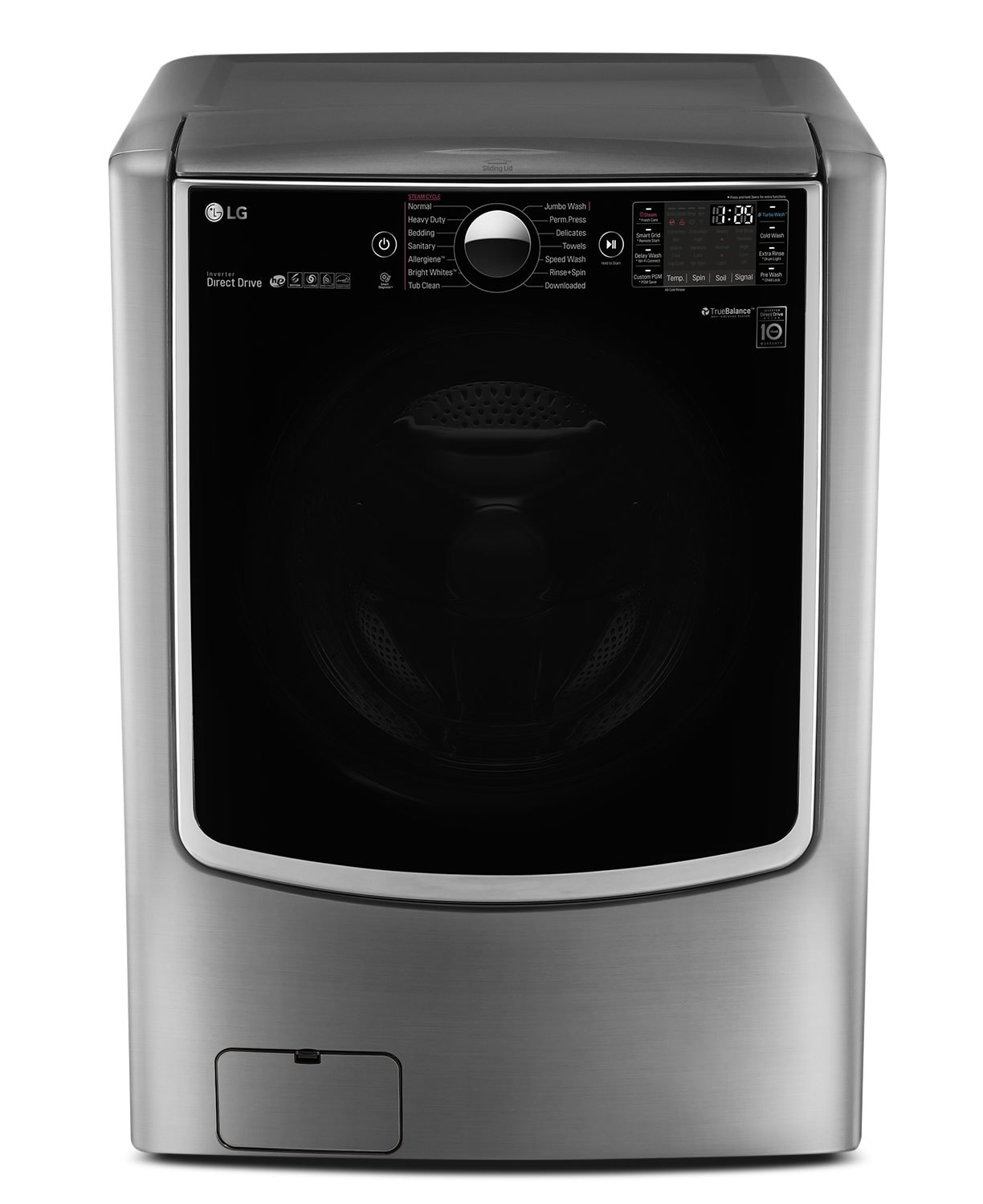 LG 6.0 Cu. Ft. High-Efficiency Front-Load Steam Washer – Graphite Steel
