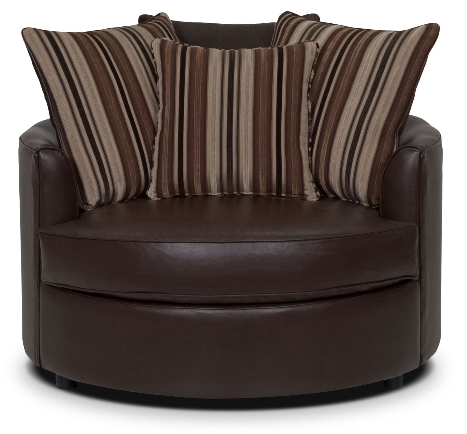 Living Room Furniture - Julia Bonded Leather Nesting Chair - Cognac
