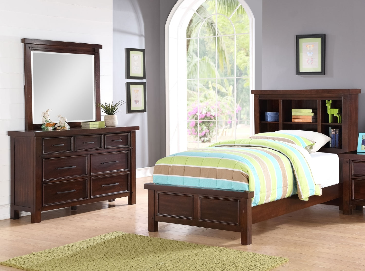 Sonoma Youth 5-Piece Bookcase Bedroom Package – Full