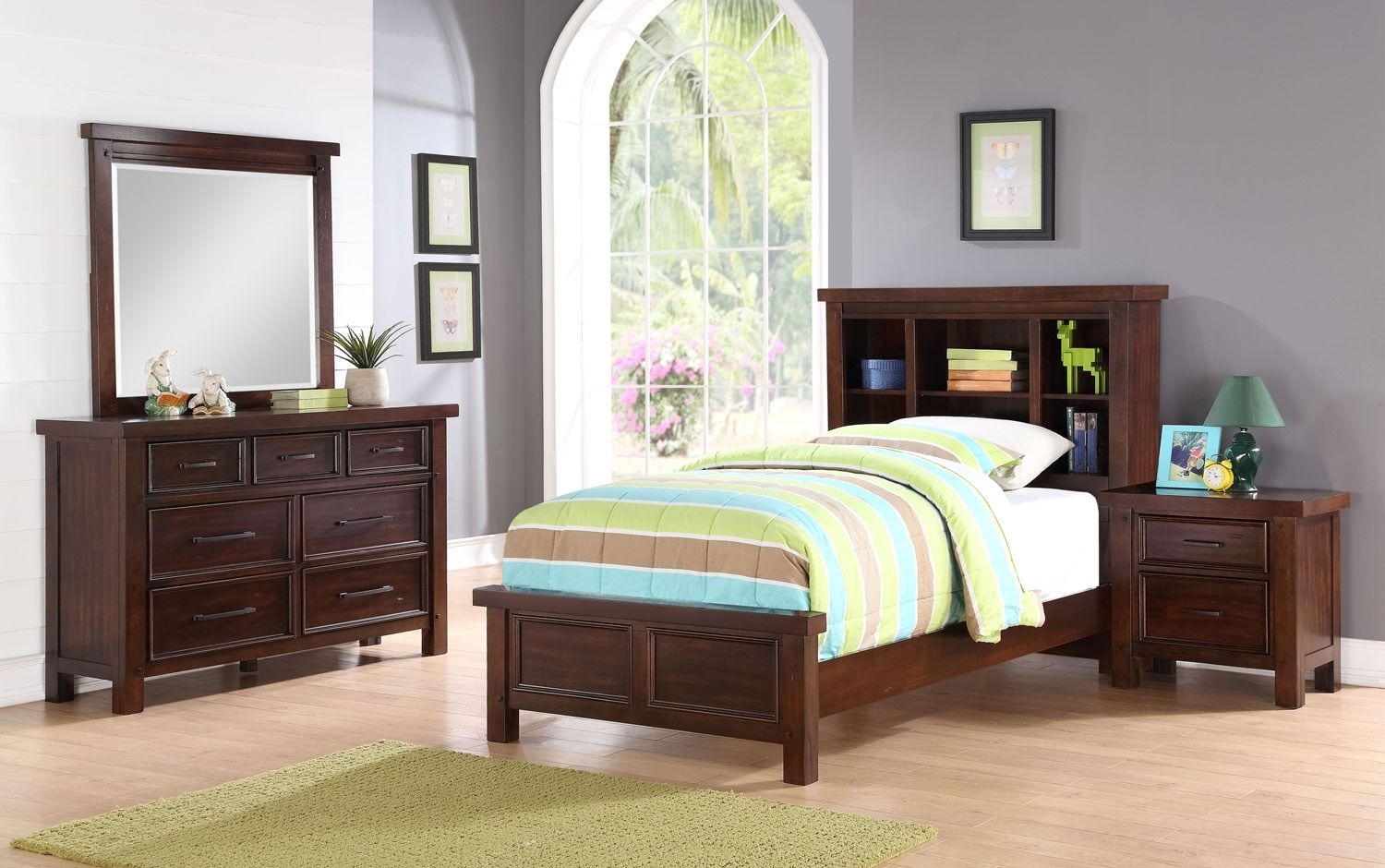 Kids Furniture - Sonoma Youth 6-Piece Bookcase Bedroom Package – Full