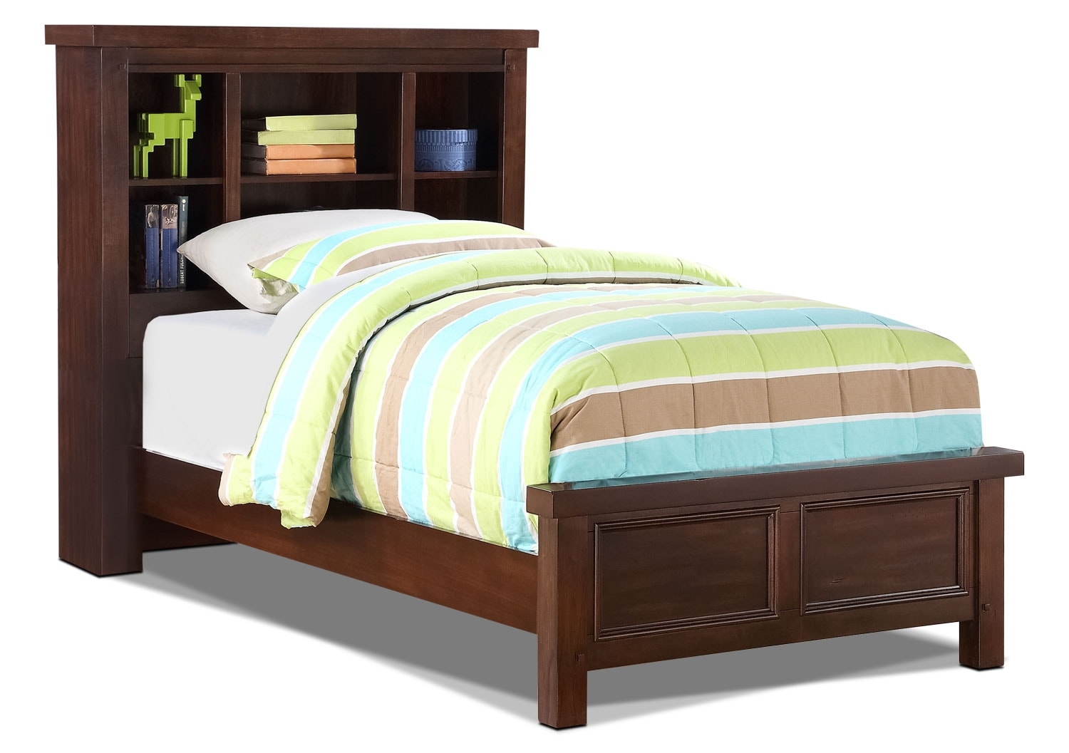 Sonoma youth twin bookcase bed united furniture warehouse for Youth furniture