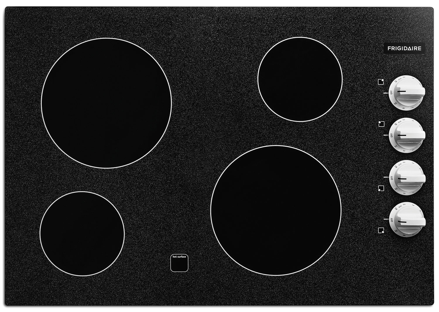 "Frigidaire Gallery 30"" Electric Cooktop – White Knobs"