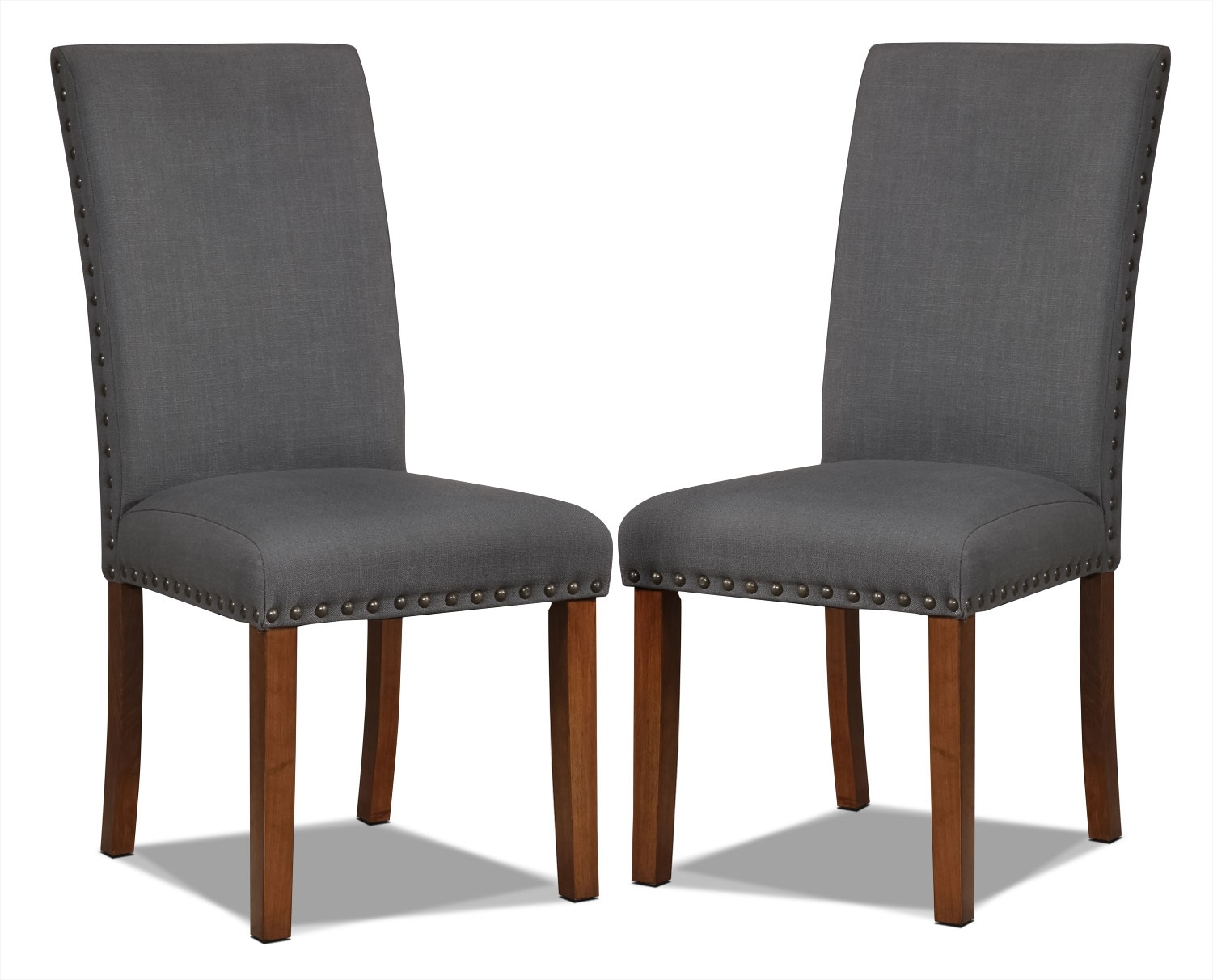 Mindy Side Chairs, Set of 2 – Charcoal