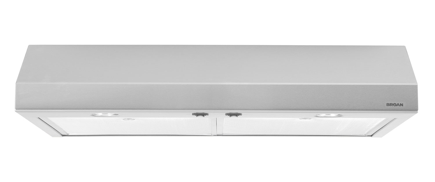 "Broan 30"" 250 CFM Under-Cabinet Range Hood – Stainless Steel"