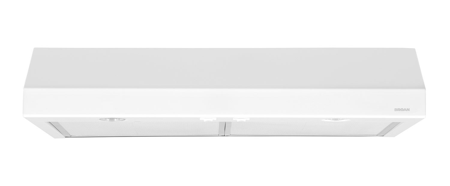 "Broan 30"" 250 CFM Under-Cabinet Range Hood – White"
