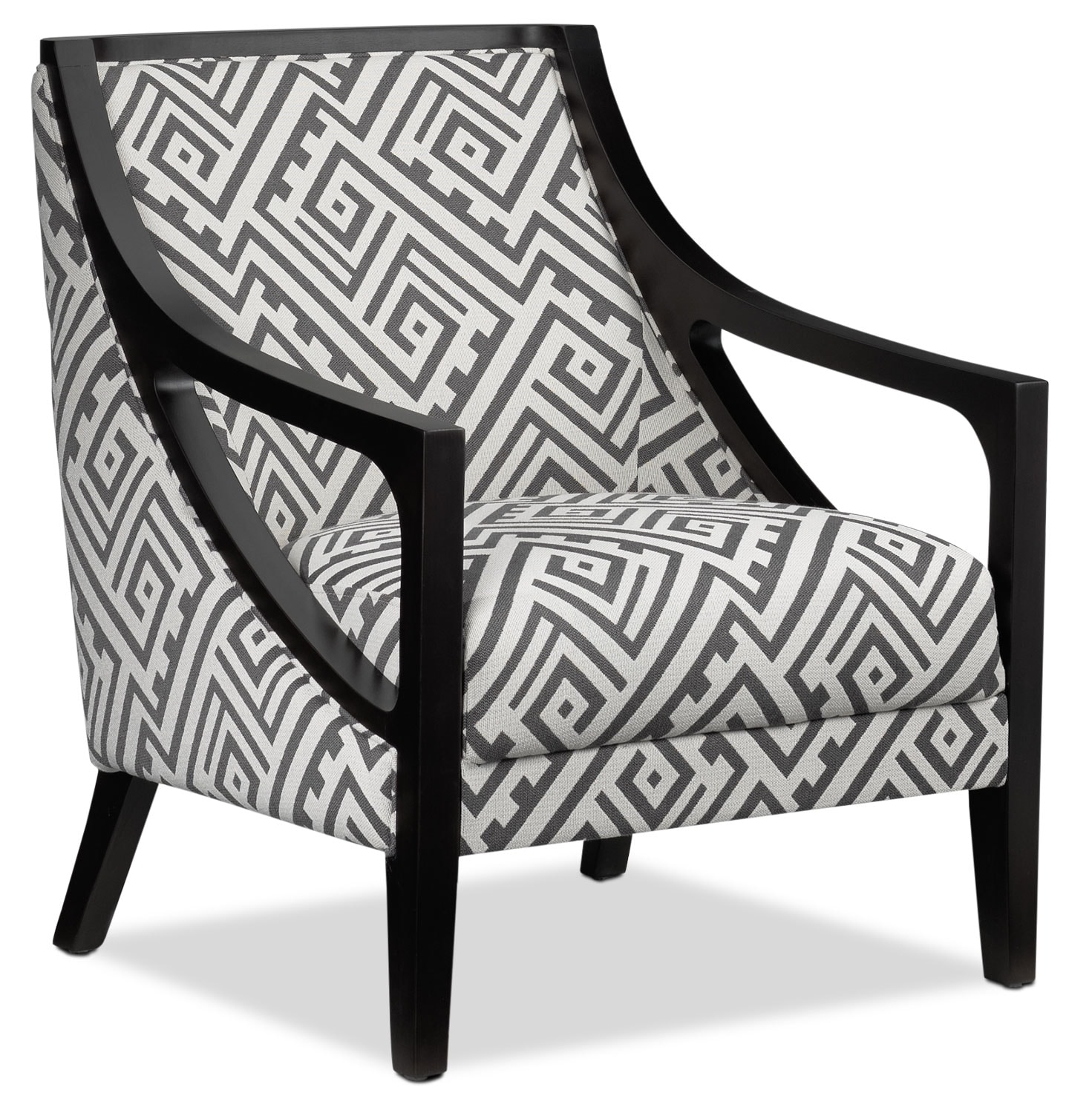 Black And White Accent Chair Dakota White Accent Chair Main Image