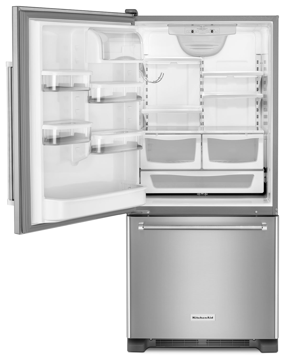 Non Stainless Steel Appliances Kitchenaid Stainless Steel Bottom Freezer Refrigerator 187 Cu