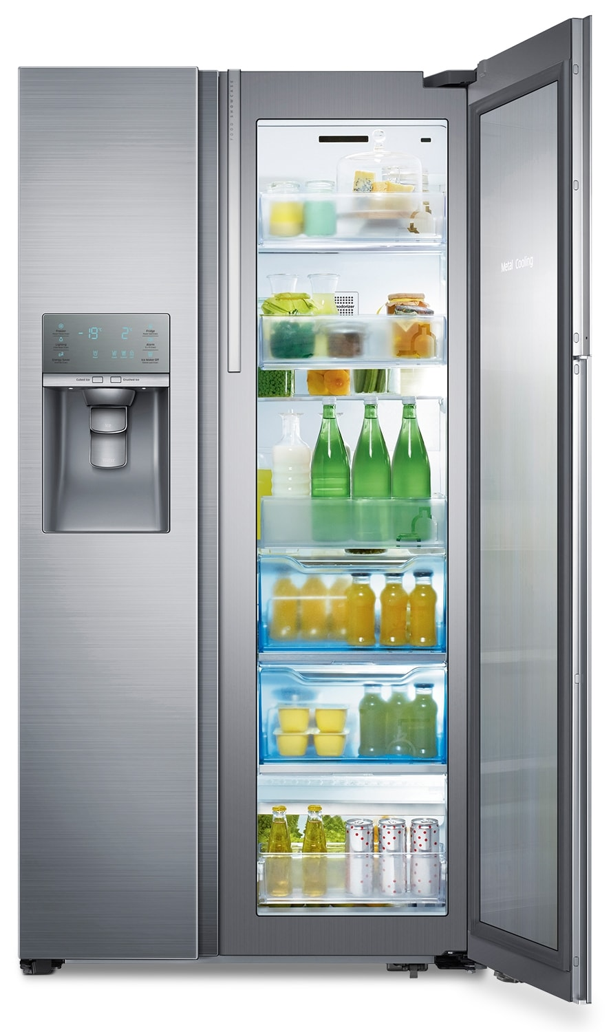Refrigerators and Freezers - Samsung 21.5 Cu. Ft Side-by-Side Food Showcase Refrigerator – Stainless Steel