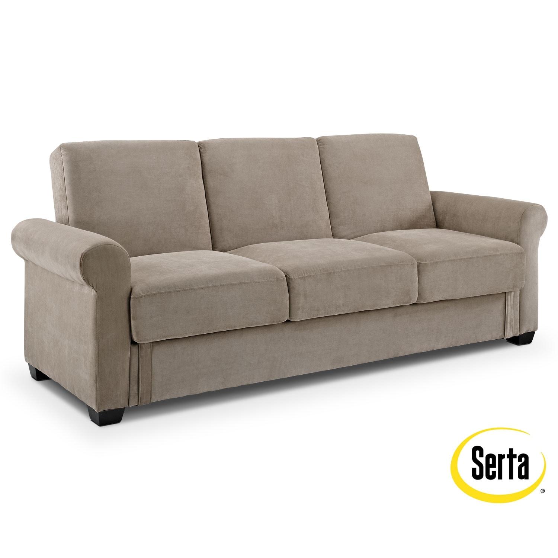 thomas futon sofa bed with storage value city furniture. Black Bedroom Furniture Sets. Home Design Ideas