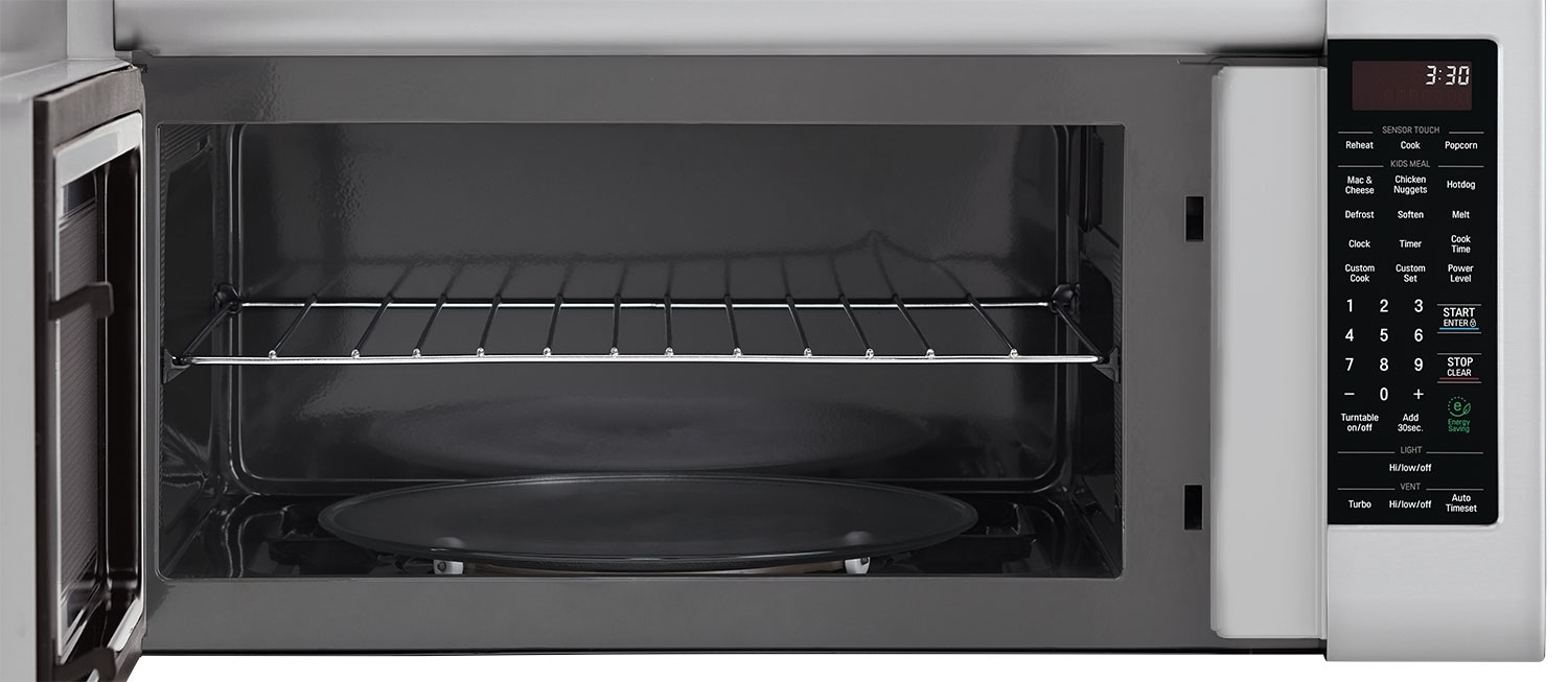 Lg 2 0 Cu Ft Over The Range Microwave With Easyclean Interior Stainless Steel United