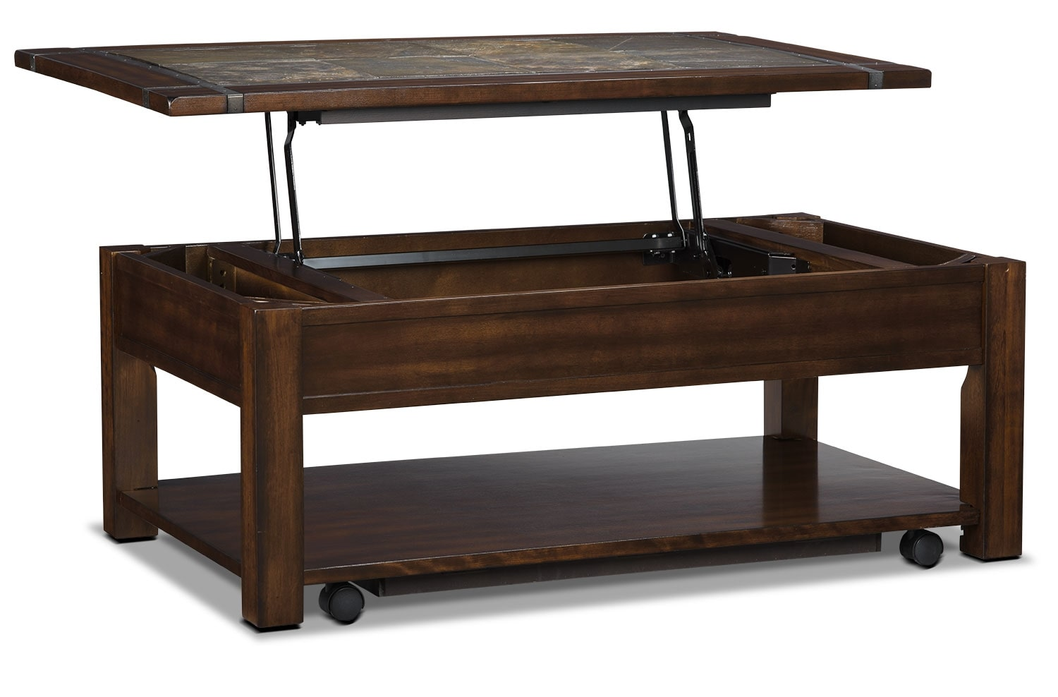 Roanoke coffee table with lift top and casters the brick Coffee tables with casters
