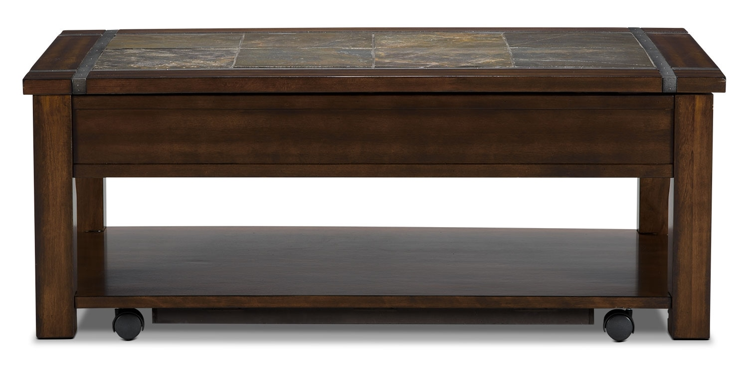 Roanoke Coffee Table With Lift Top And Casters United