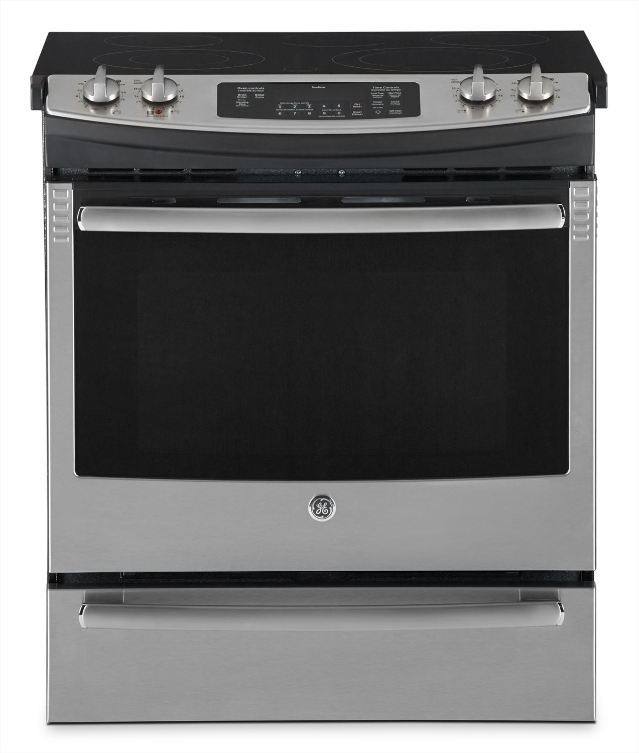 Cooking Products - GE 5.2 Cu. Ft. Slide-In Electric Range – Stainless Steel
