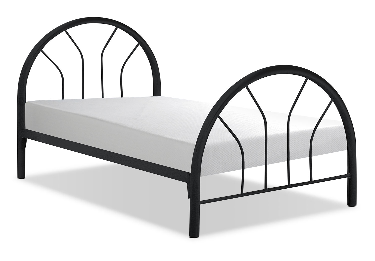 Monarch Twin Bed – Black