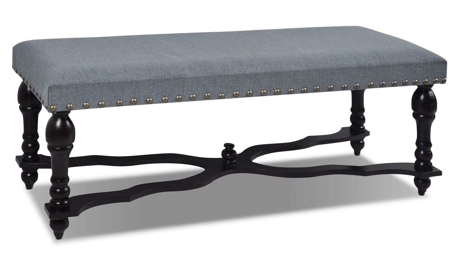 Wexford Upholstered Bench Blue United Furniture Warehouse