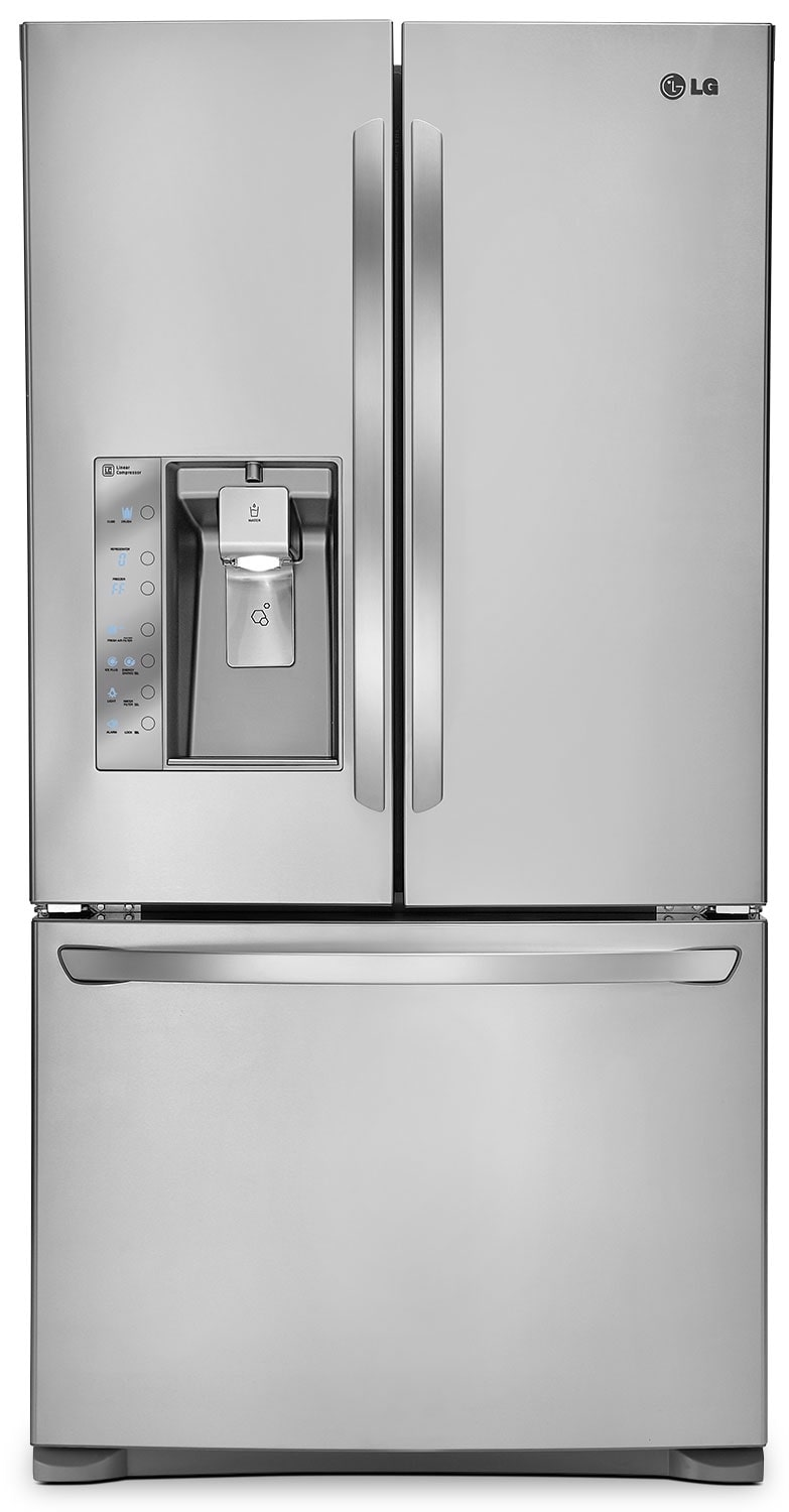 Refrigerators and Freezers - LG 24 Cu. Ft. French-Door Refrigerator with Ice and Water Dispenser – Stainless Steel