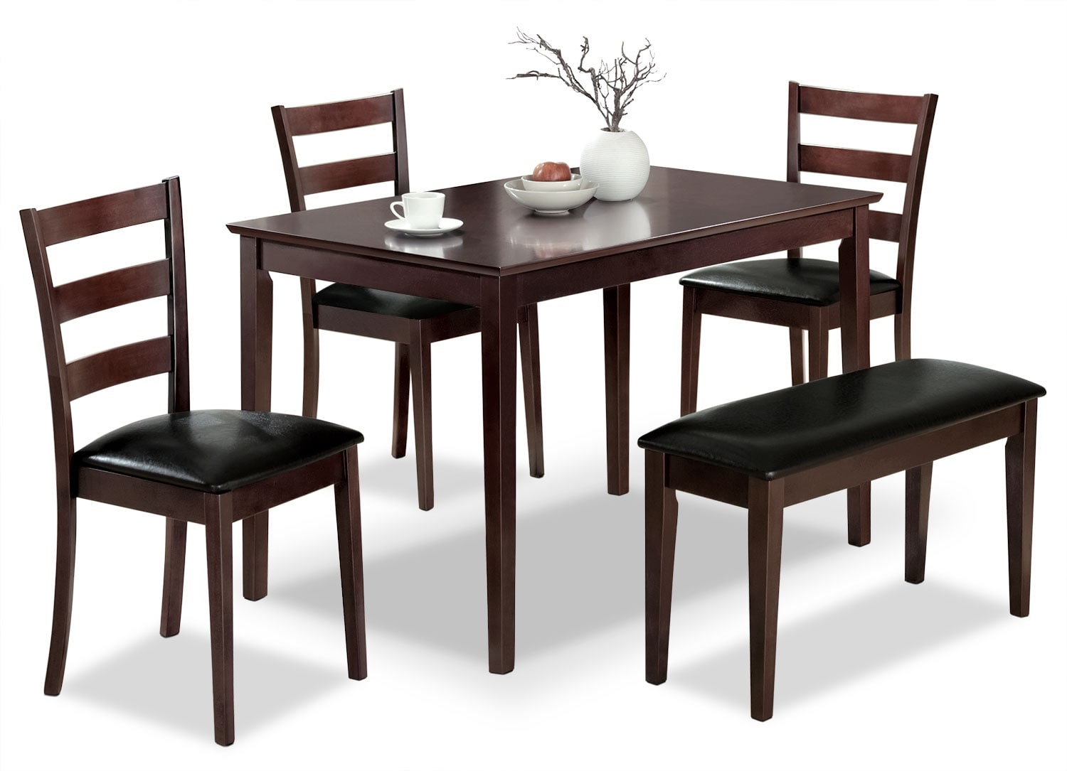 Dining Room Furniture - Monarch 5-Piece Dining Package – Cappuccino