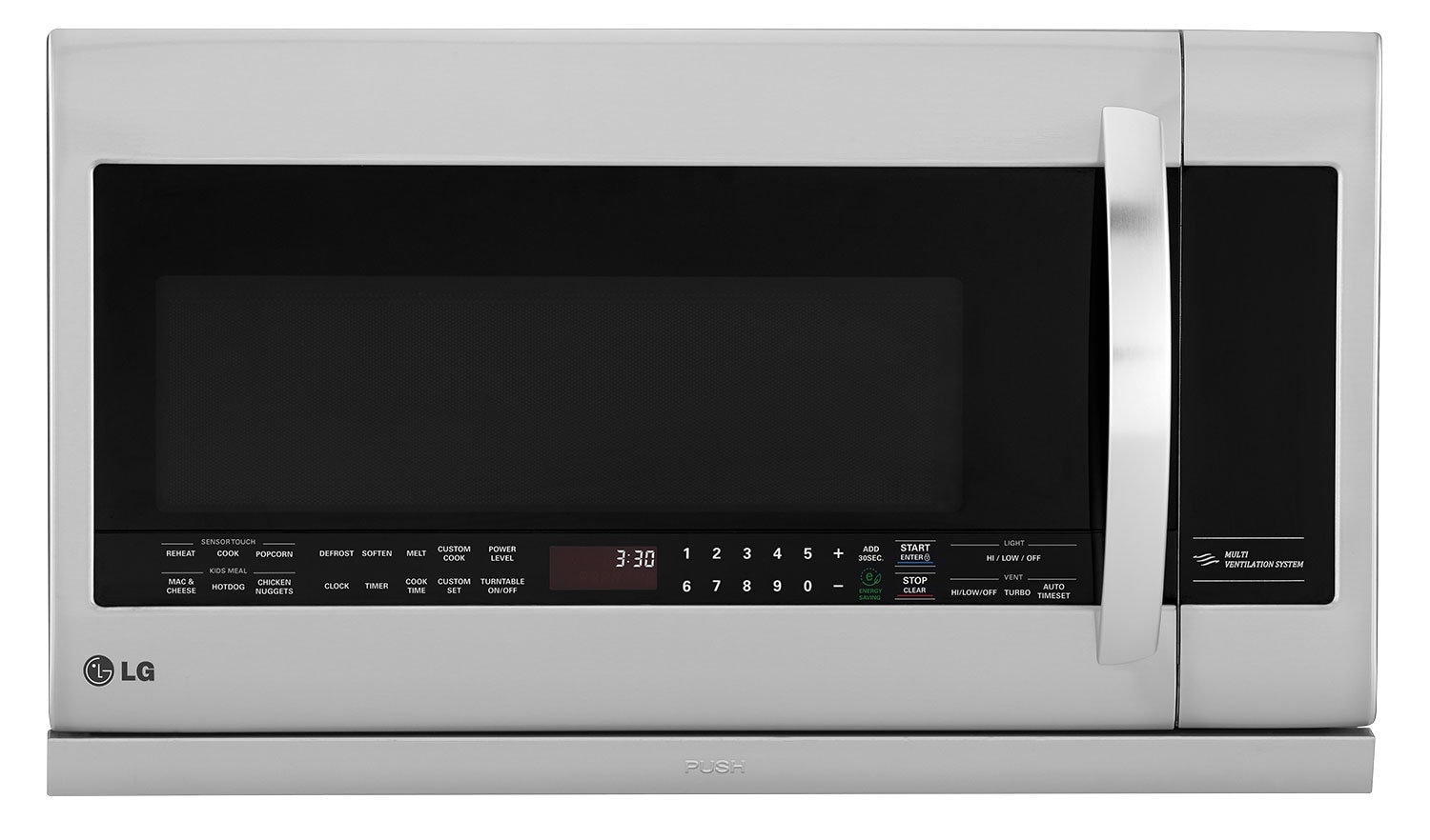 Cooking Products - LG 2.2 Cu. Ft. Over-the-Range Microwave – Stainless Steel