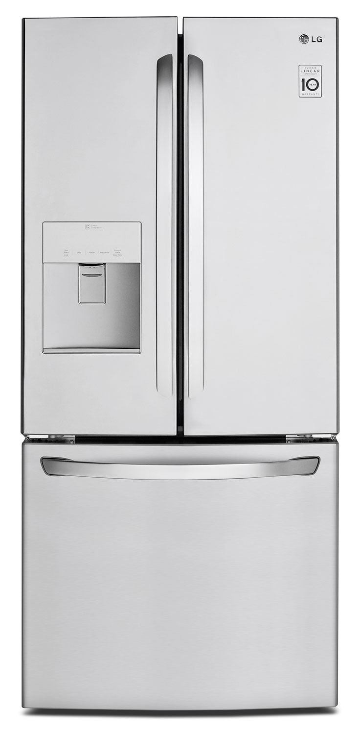 LG 22 Cu. Ft. French-Door Refrigerator with Water Dispenser – Stainless Steel