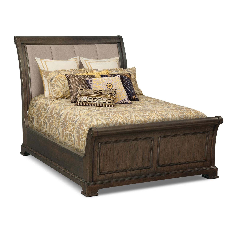 Queen Sleigh Bed : Bedroom Furniture - Collinwood Queen Sleigh Bed