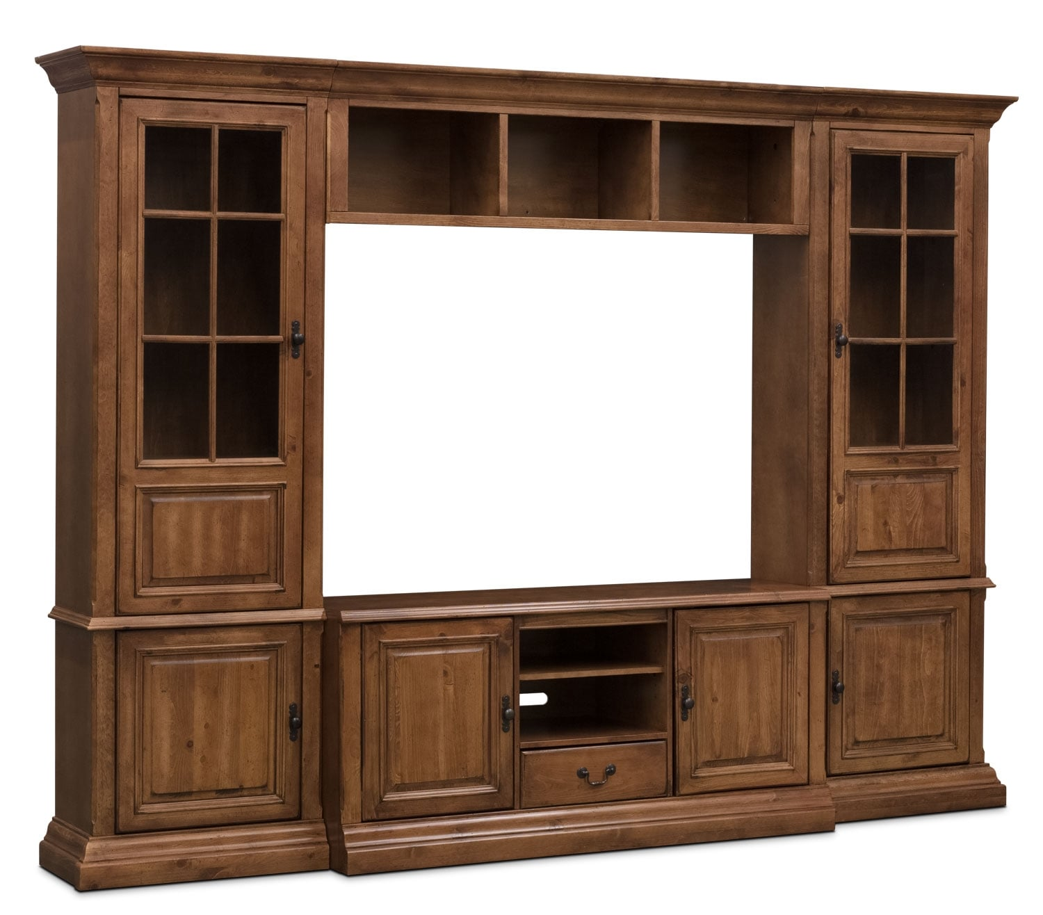 "Entertainment Furniture - Edgewood 4-Piece Display Entertainment Centre with 60"" TV Opening"