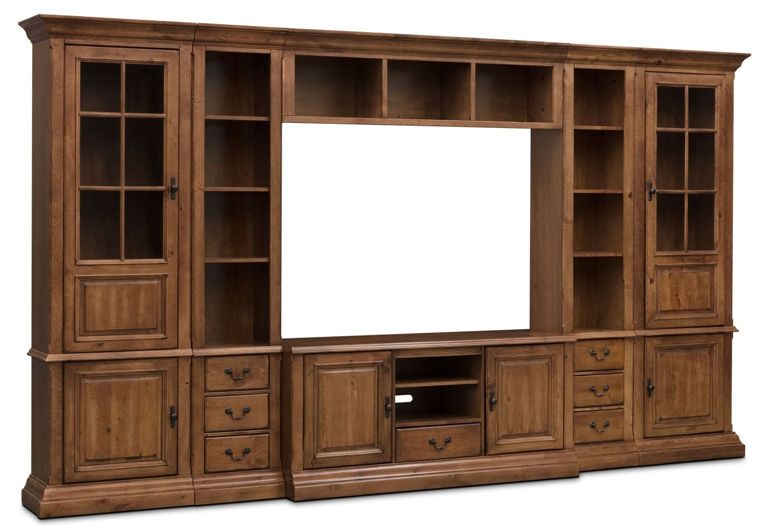 "Entertainment Furniture - Edgewood 6-Piece Entertainment Centre with 60"" TV Opening"