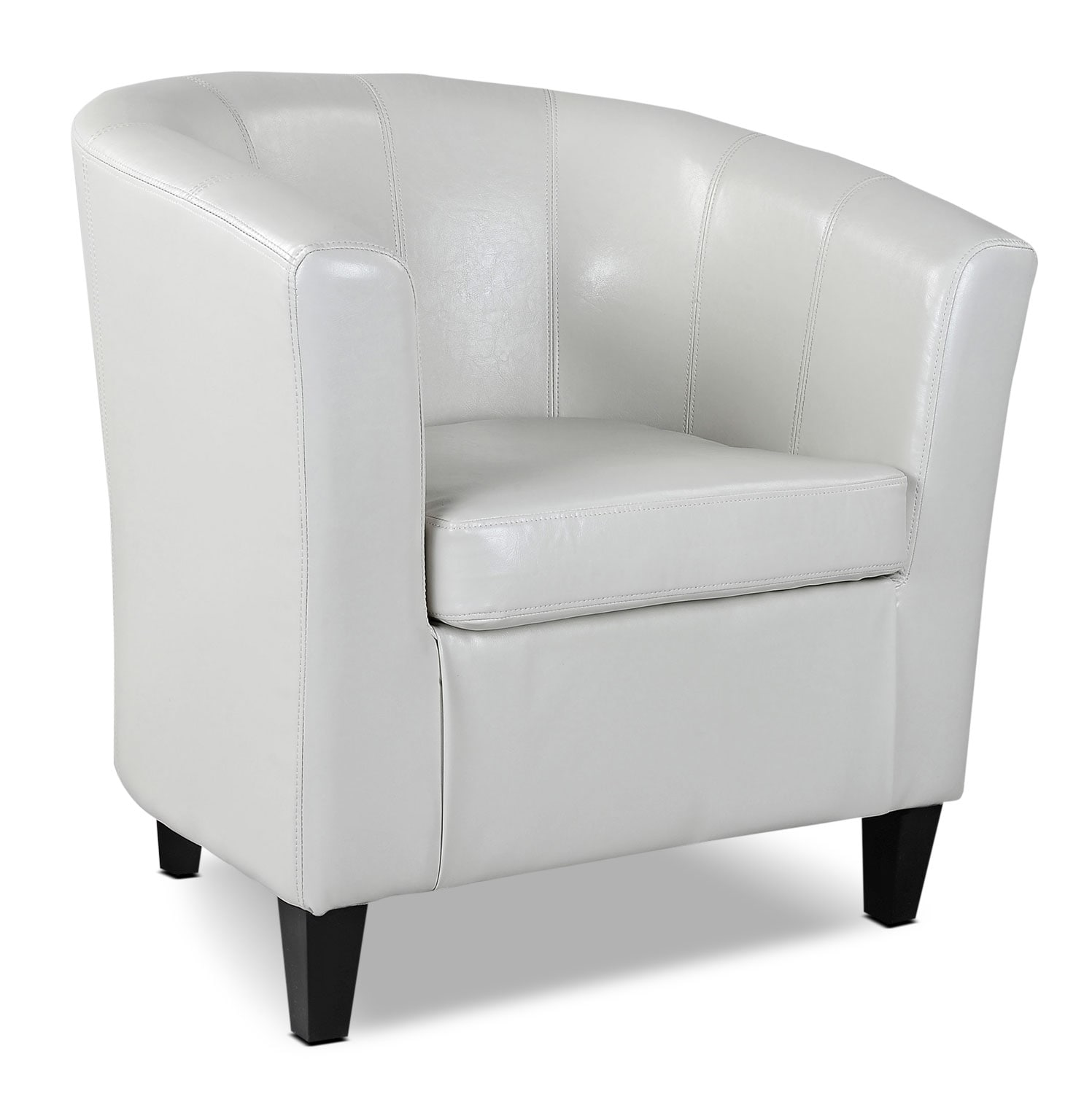Living Room Furniture - LAD Bonded Leather Accent Chair – Cream
