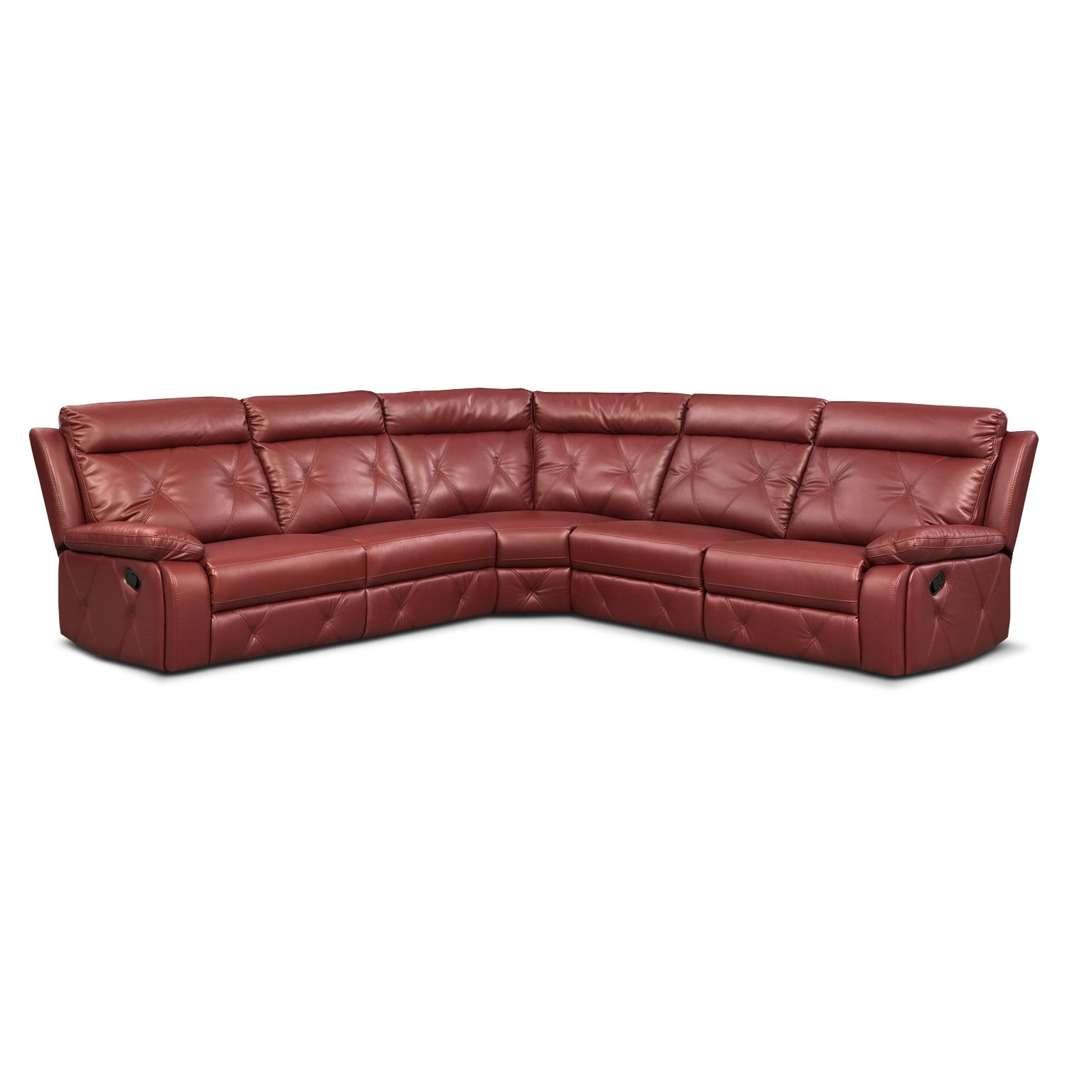[Dante Red 5 Pc. Reclining Sectional w/ 2 Reclining Seats]