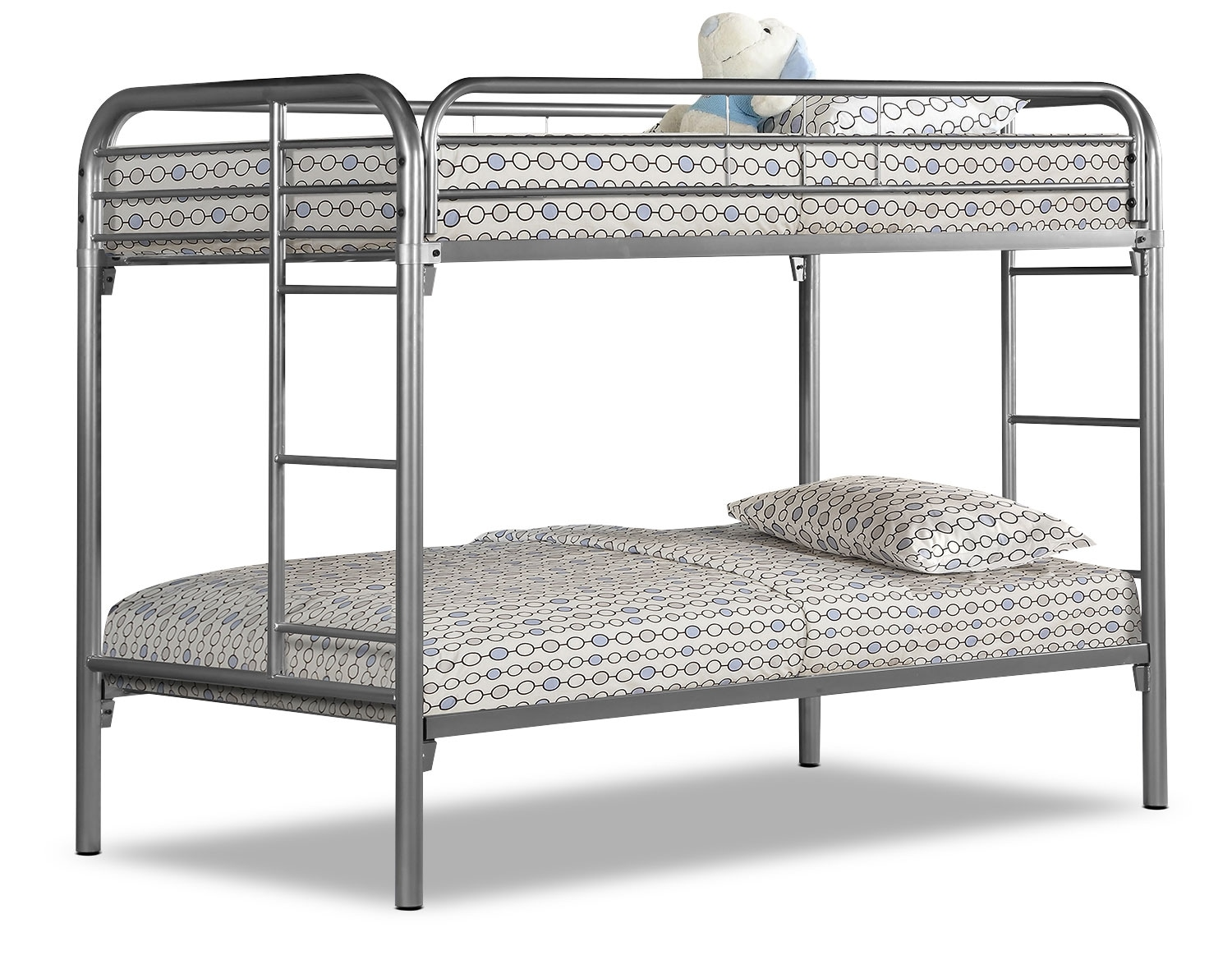 monarch twin bunk bed silver the brick