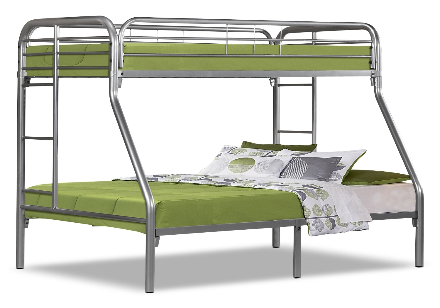 Kids Furniture - Monarch Twin/Full Bunk Bed – Silver