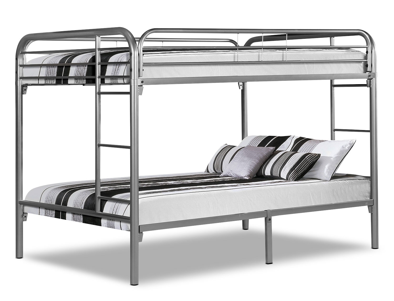 Kids Furniture - Monarch Full Bunk Bed – Silver
