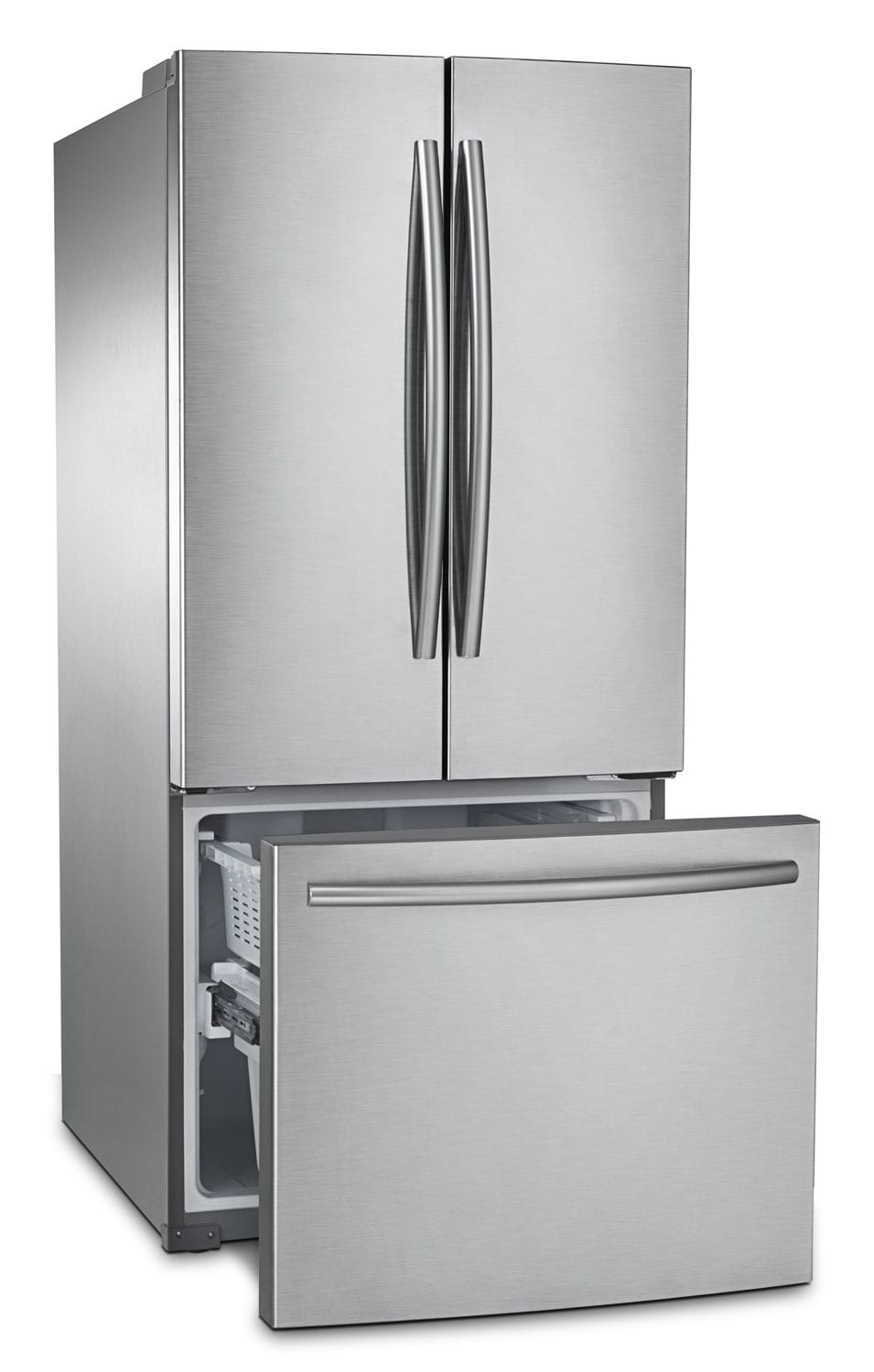 Samsung Stainless Steel French Door Refrigerator 21 6 Cu