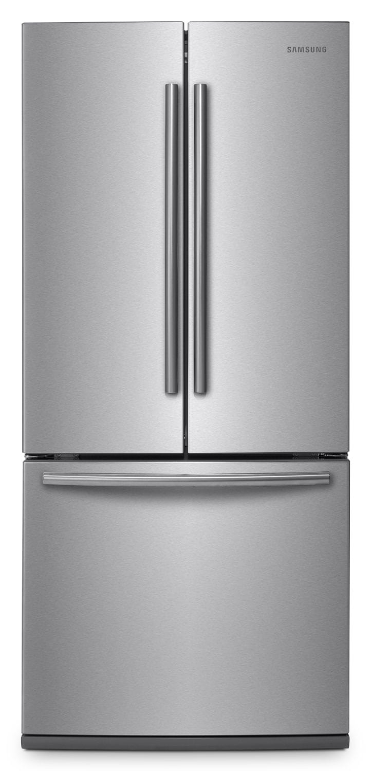 Refrigerators and Freezers - Samsung Stainless Steel French Door Refrigerator (21.6 Cu. Ft.) - RF220NCTASR