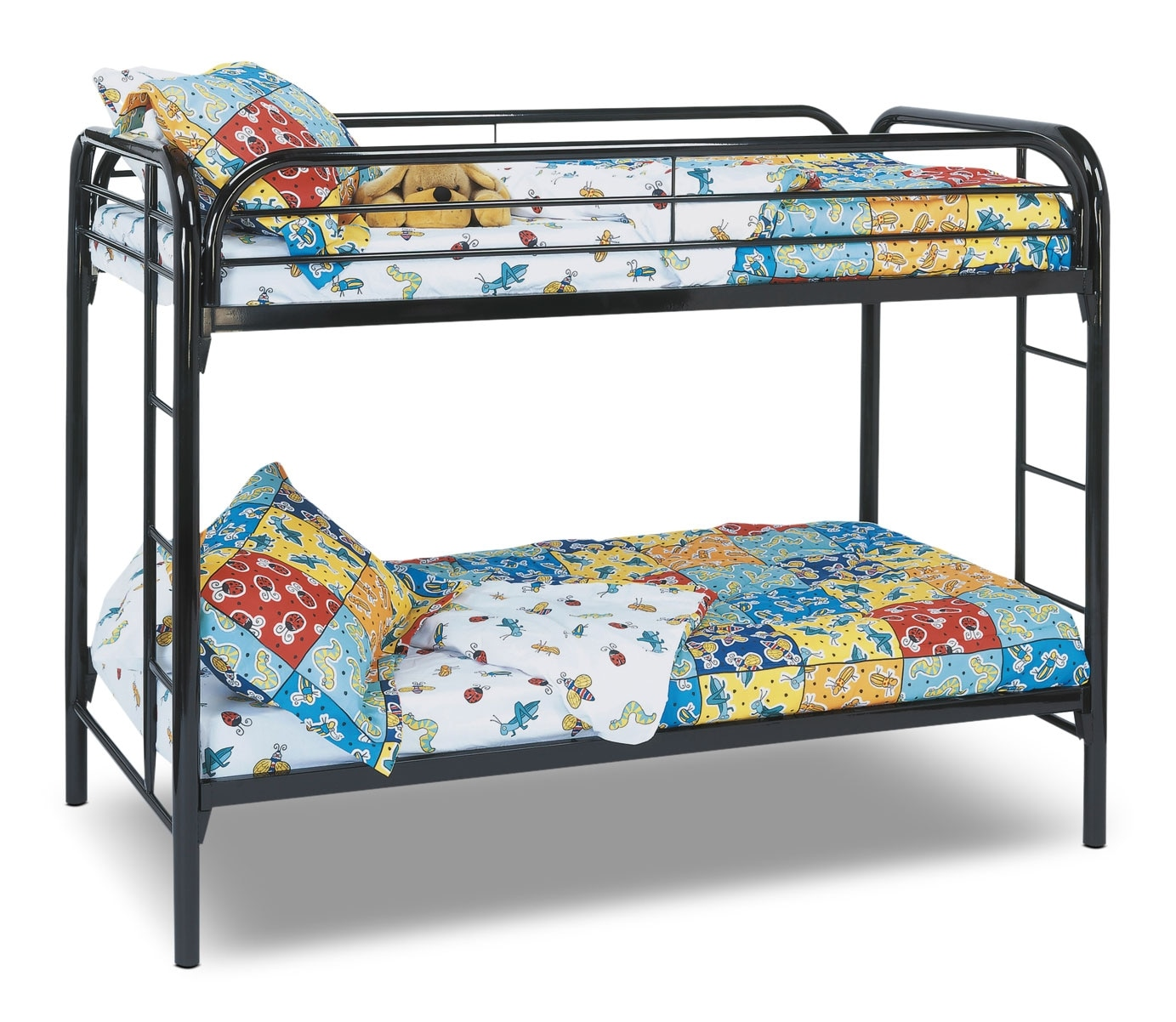 Kids Furniture - Monarch Twin Bunk Bed – Black