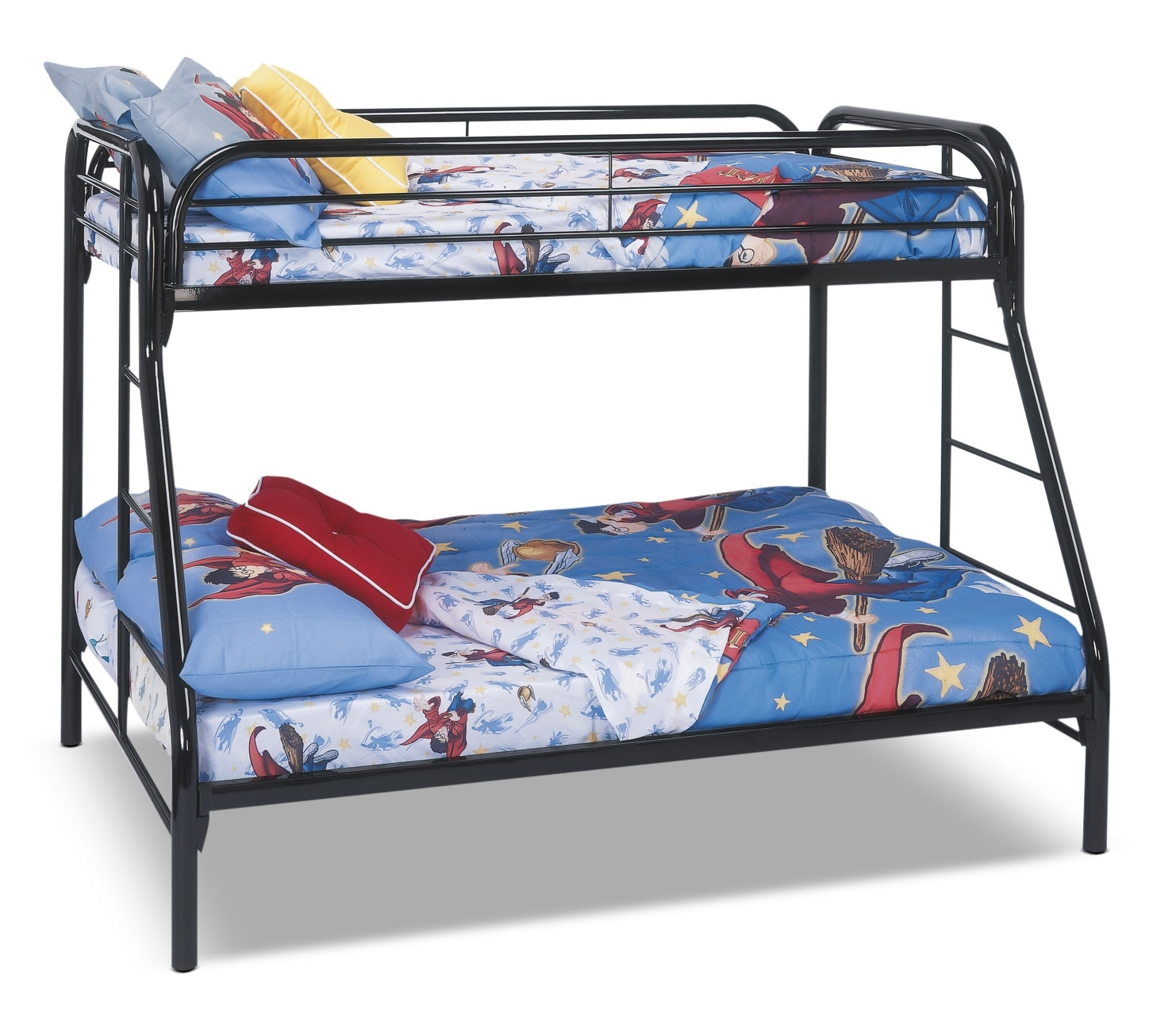 Monarch Twin/Full Bunk Bed – Black