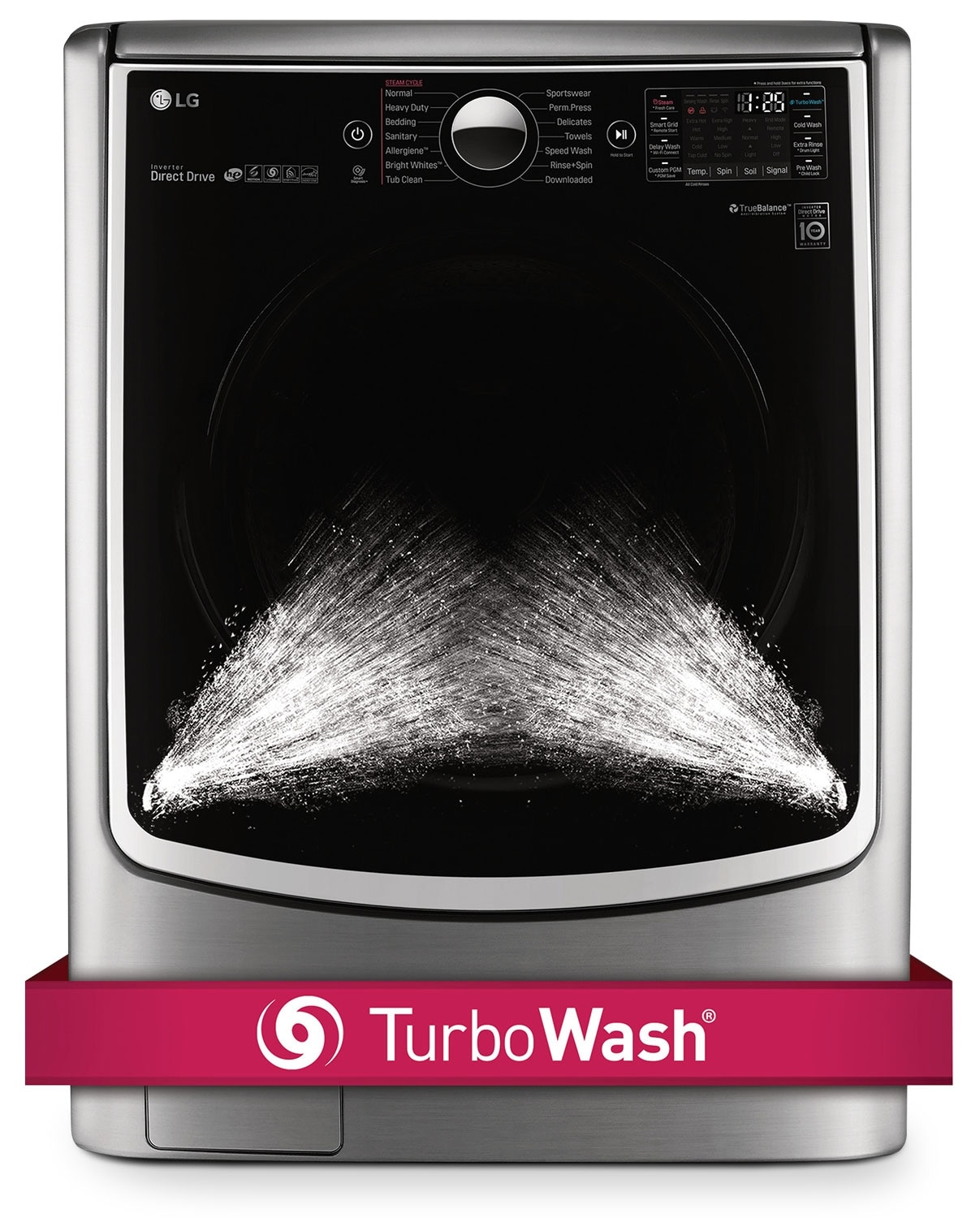 Washers and Dryers - LG Appliances Graphite Steel Front-Load Washer (5.2 Cu. Ft.) - WM5000HVA