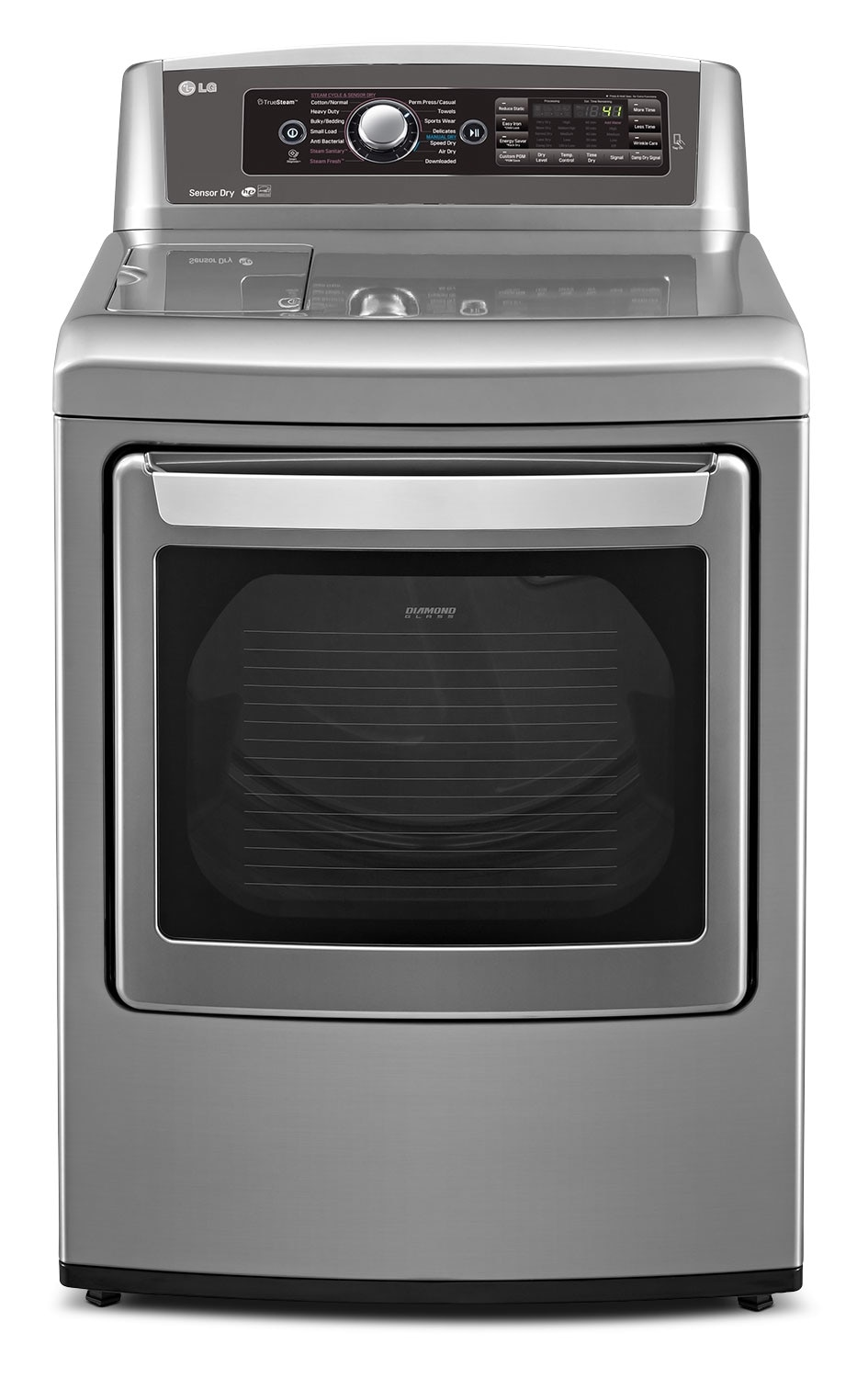 Washers and Dryers - LG 7.3 Cu. Ft. Ultra-Large Capacity Gas Steam Dryer - Grey