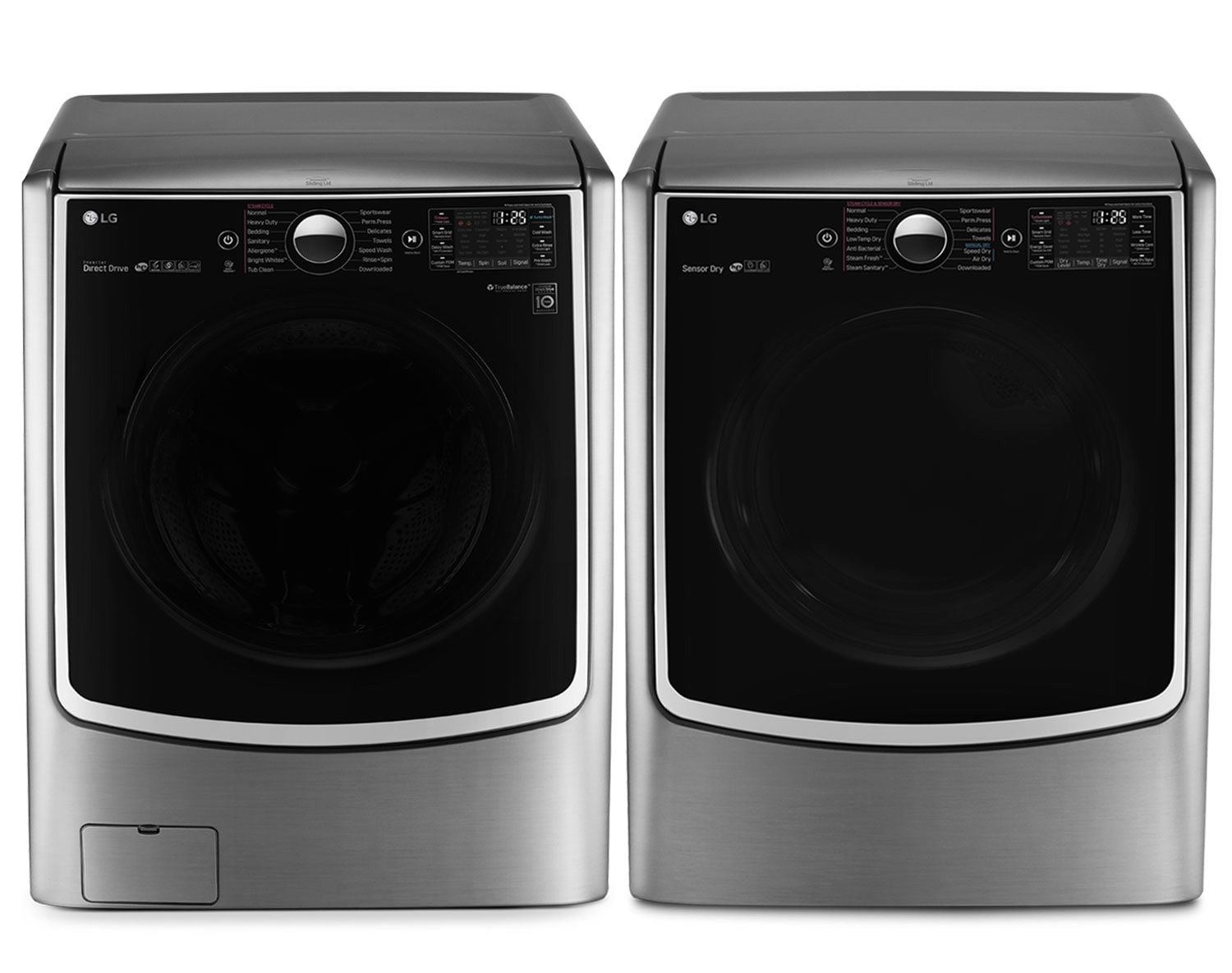 [LG Appliances Graphite Steel Front-Load Laundry Collection - WM5000HVA/DLEX5000V]