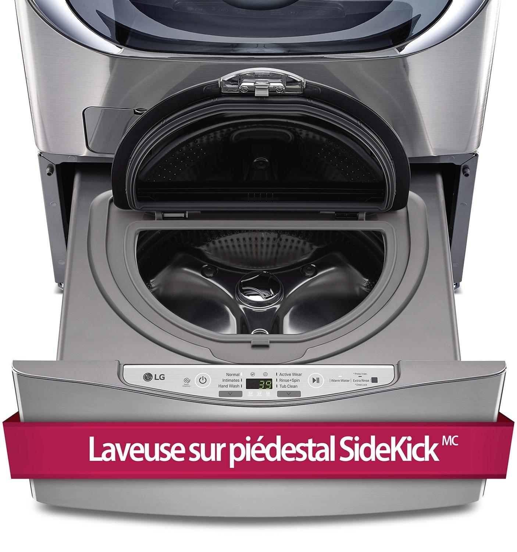 LG Laveuse sur piédestal SidekickMC 1,1 pi³ graphite WD100CV