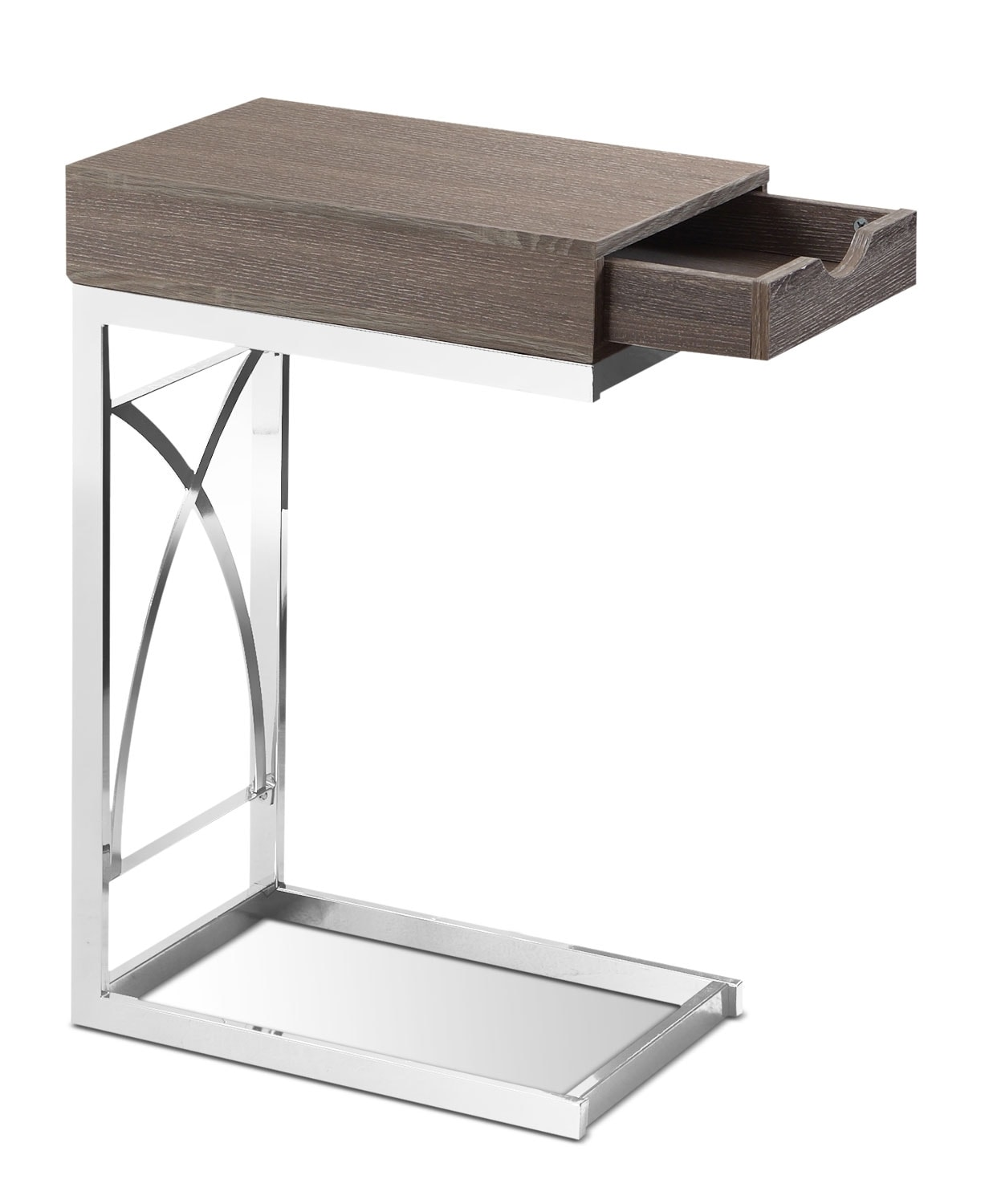 Turin Accent Table – Dark Taupe
