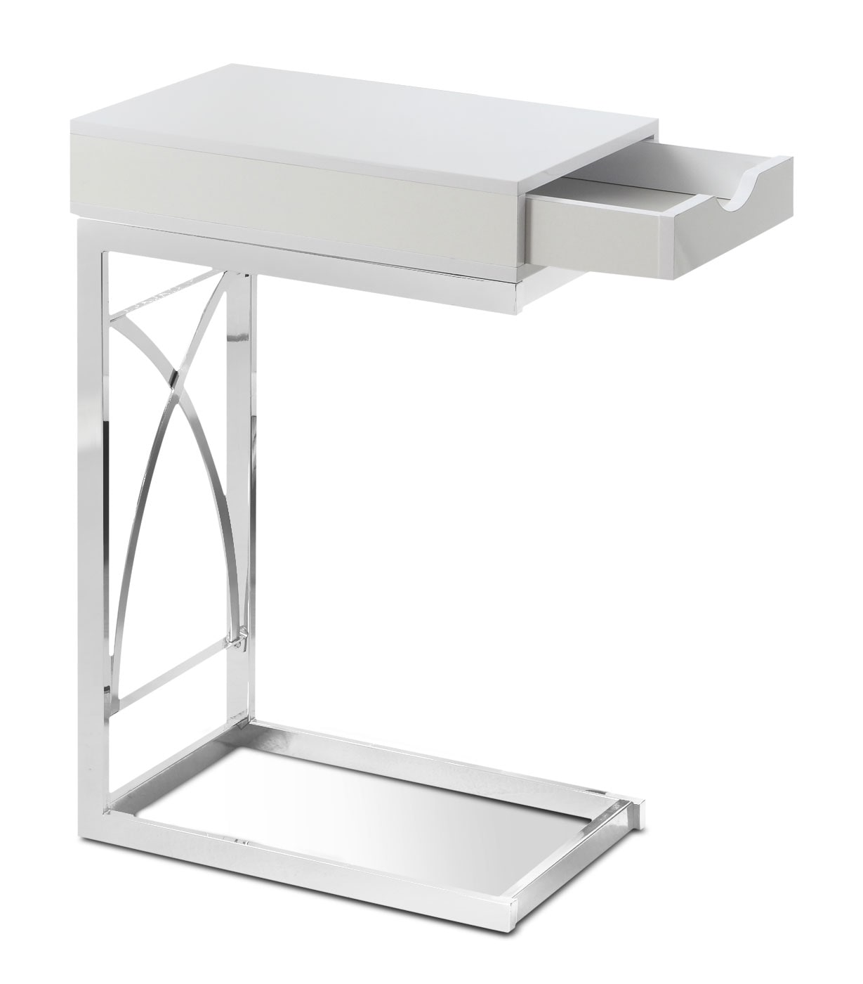 Turin Accent Table – Glossy White