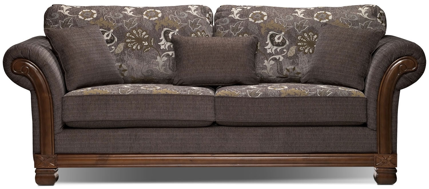 Living Room Furniture - Hazel Chenille Full-Size Sofa Bed - Quartz