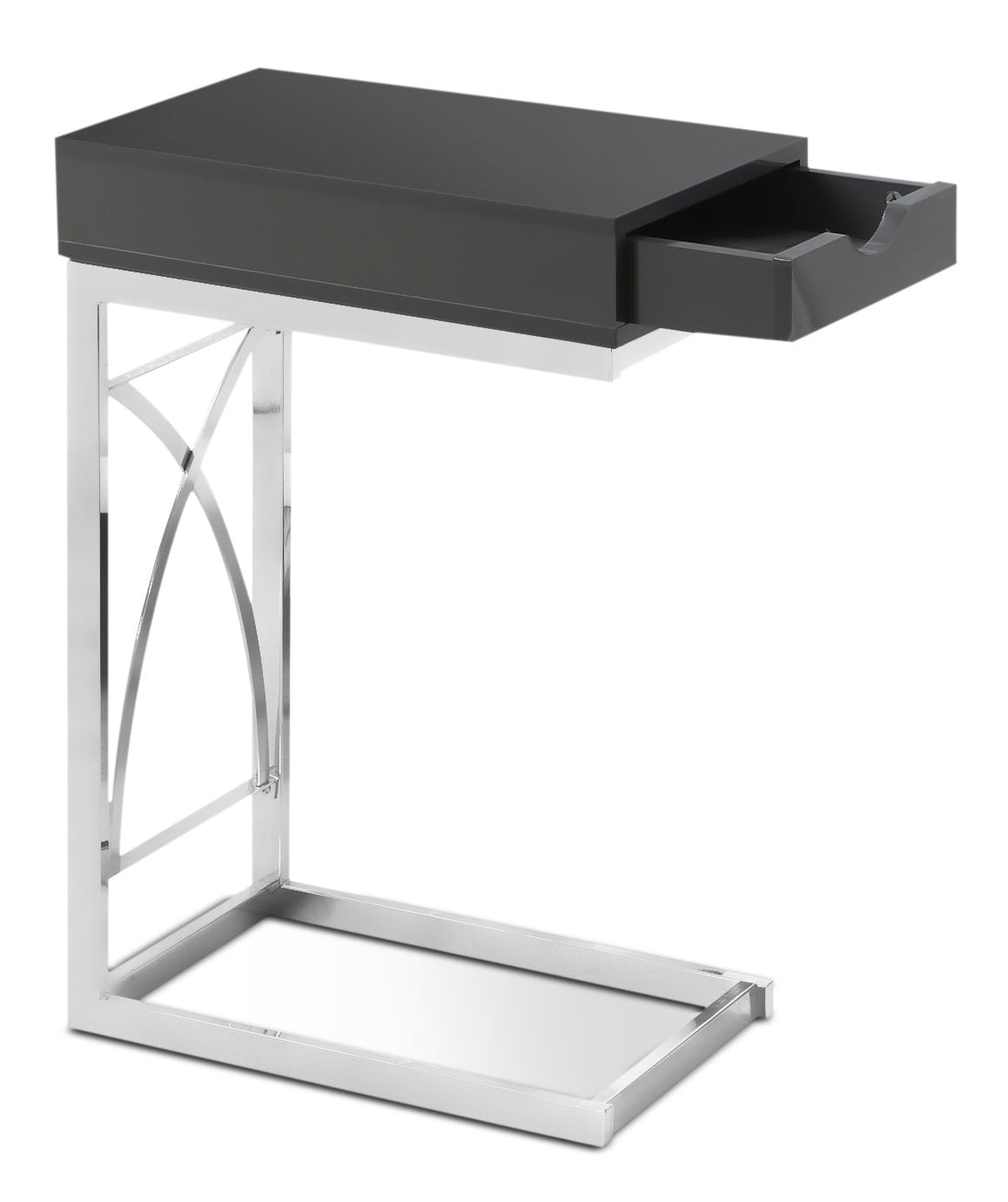Turin Accent Table – Glossy Grey